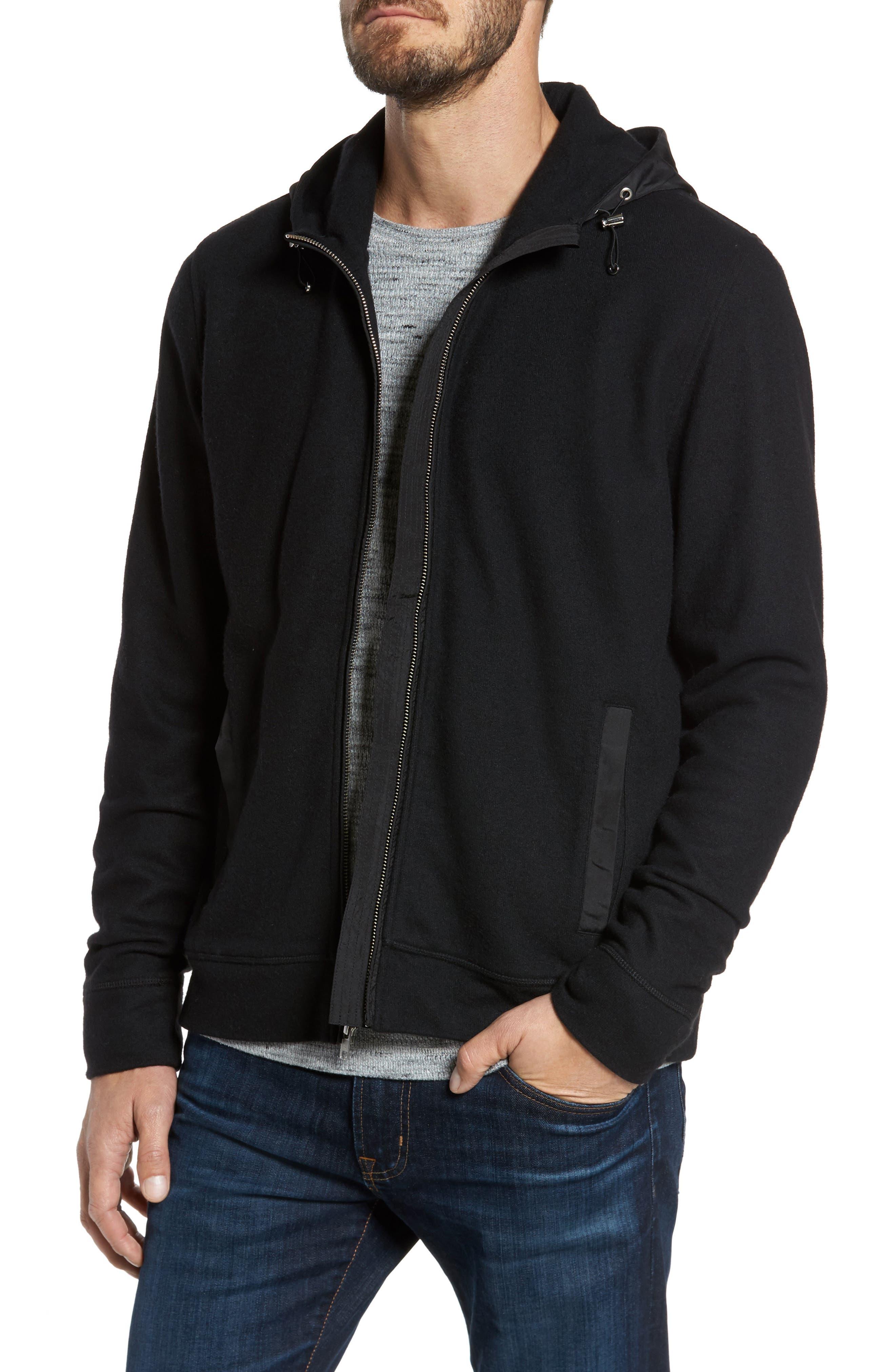 Nordstrom Men's Shop Wool Blend Hooded Cardigan