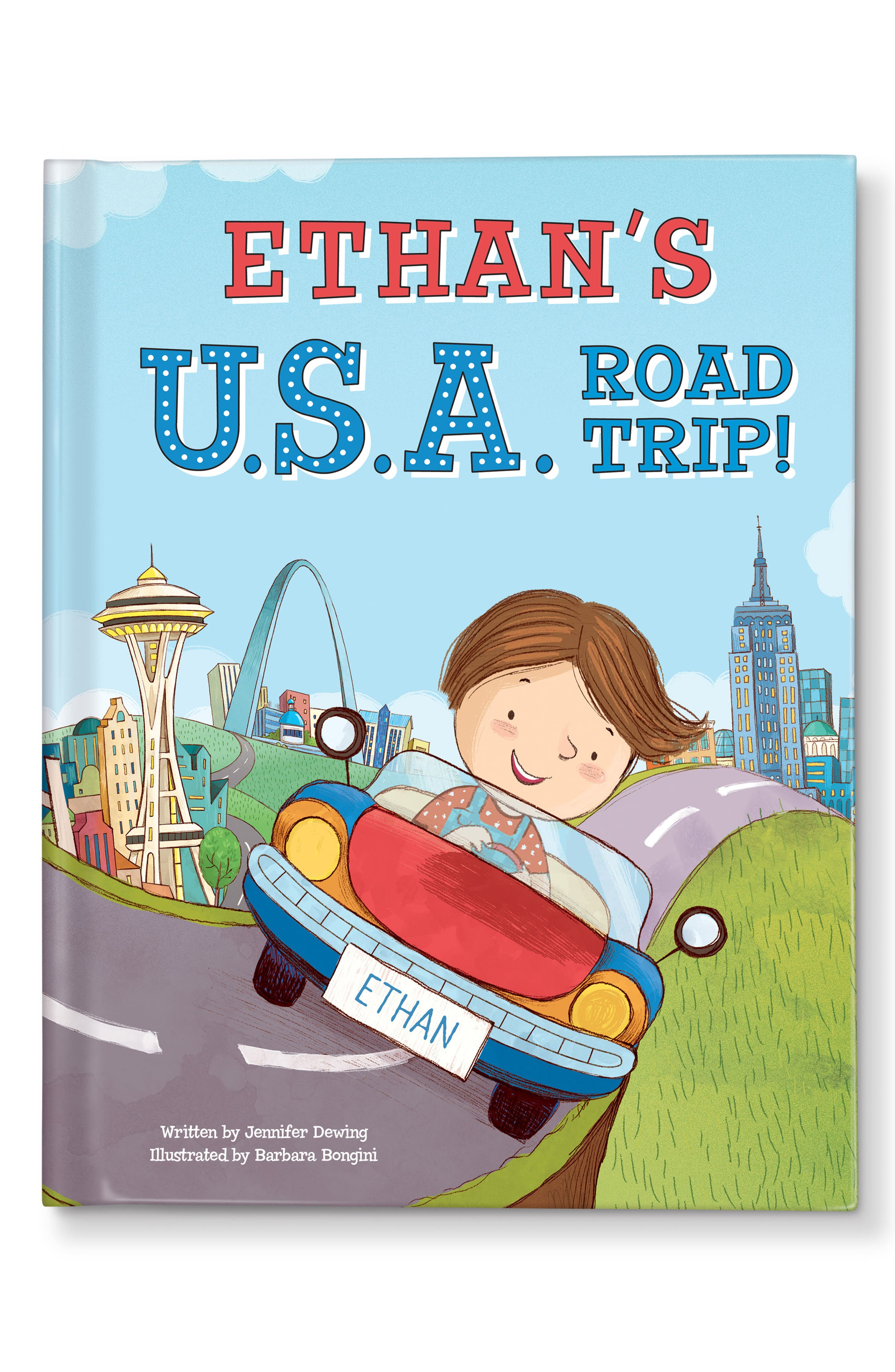 'My U.S.A. Road Trip!' Personalized Storybook,                             Main thumbnail 1, color,                             Washington