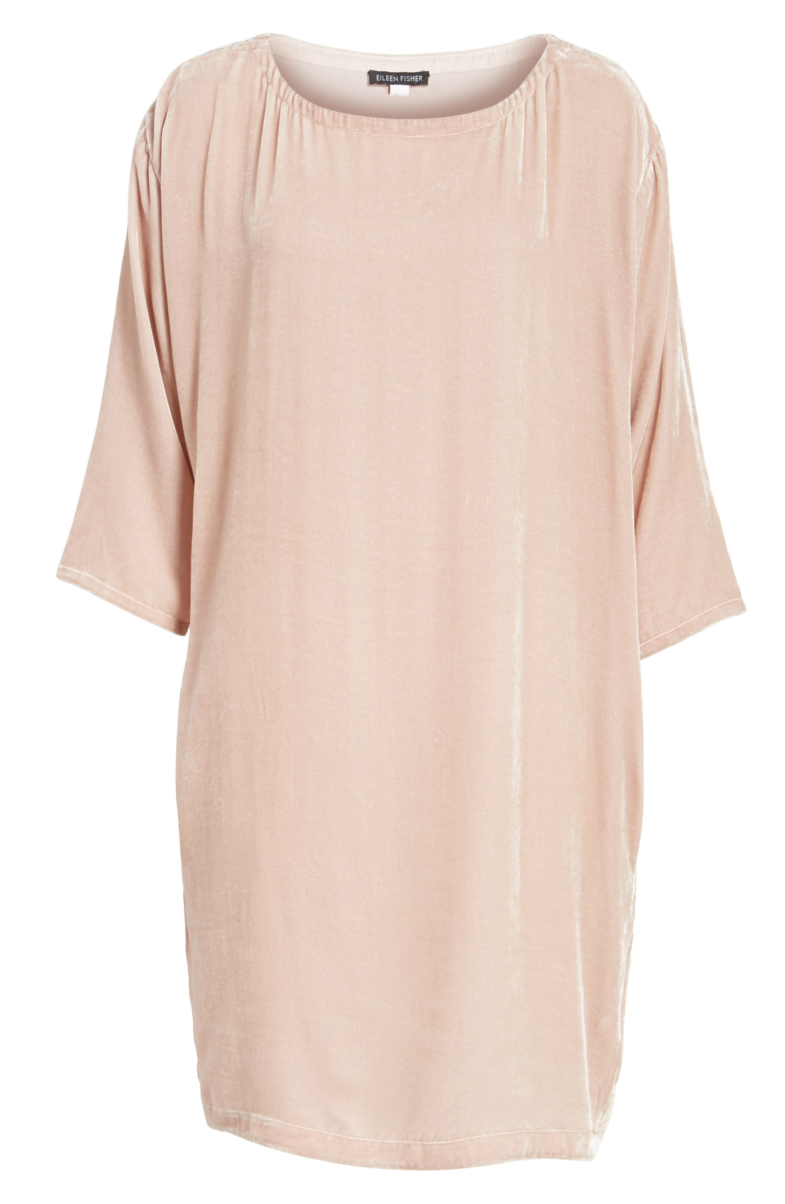 Eileen Fisher Velvet Shift Dress (Regular & Petite)