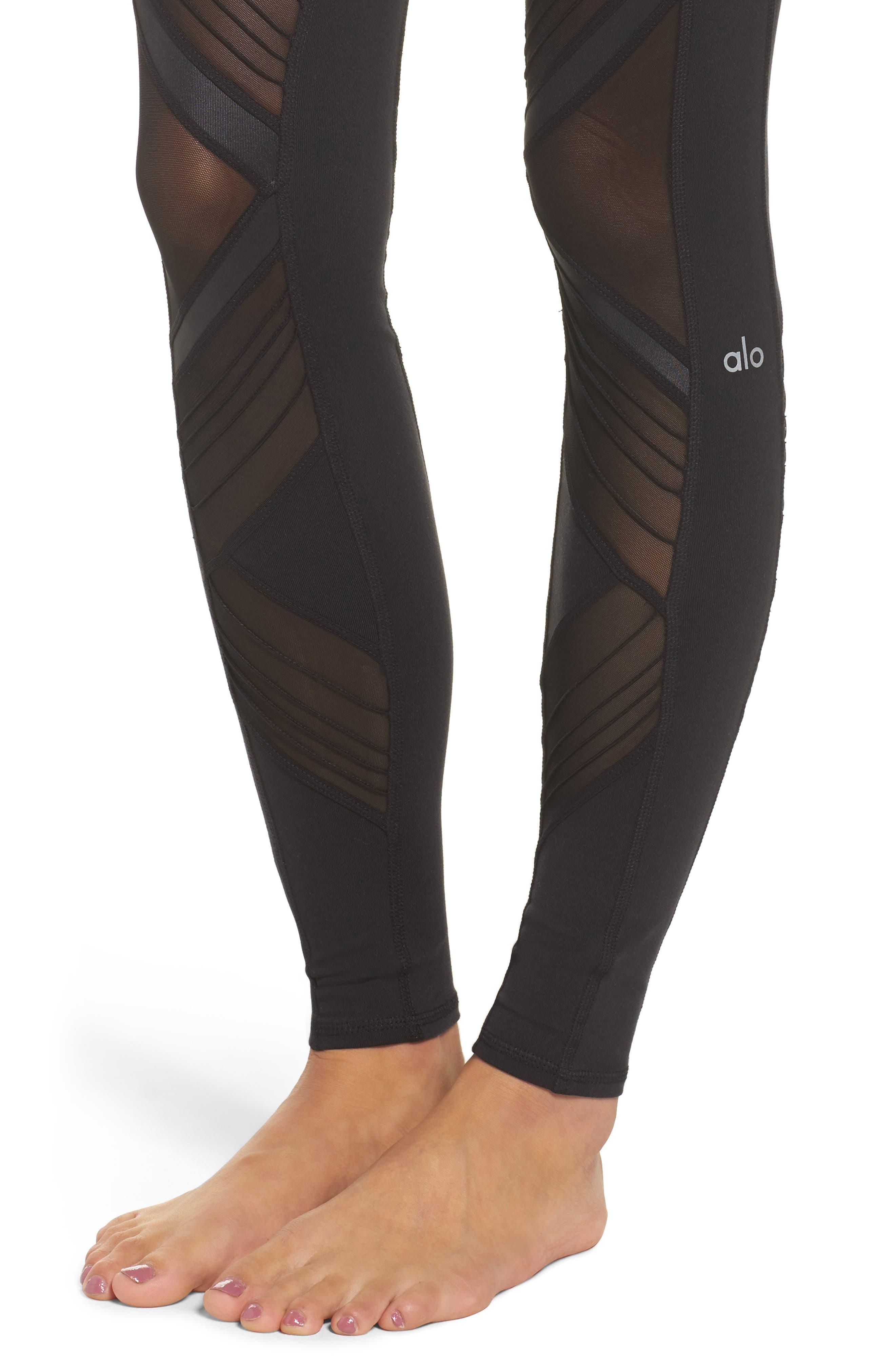 Ultimate High Waist Leggings,                             Alternate thumbnail 4, color,                             Black