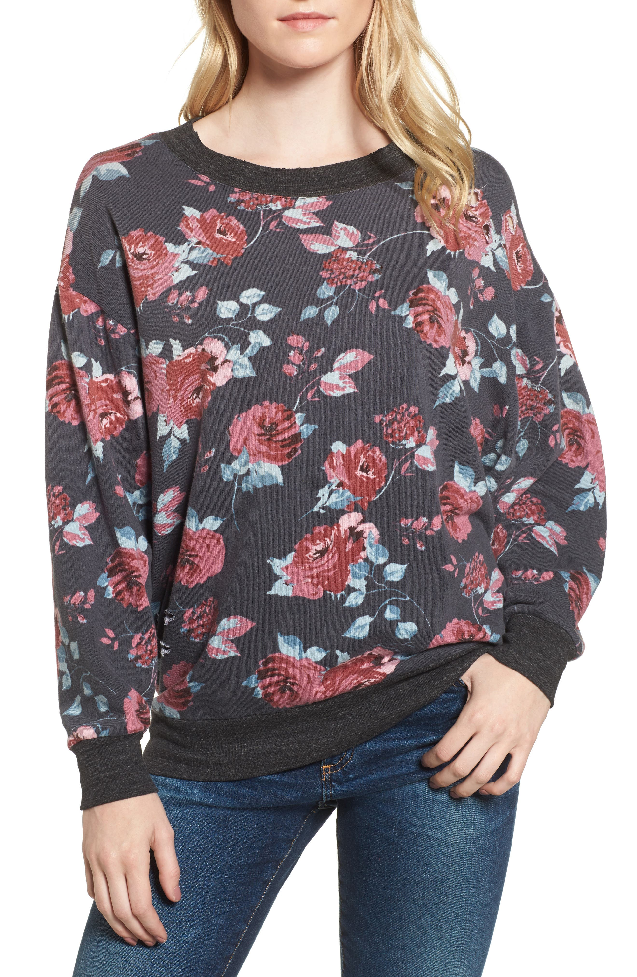 Chelsea Sweatshirt,                             Main thumbnail 1, color,                             Pitch Black