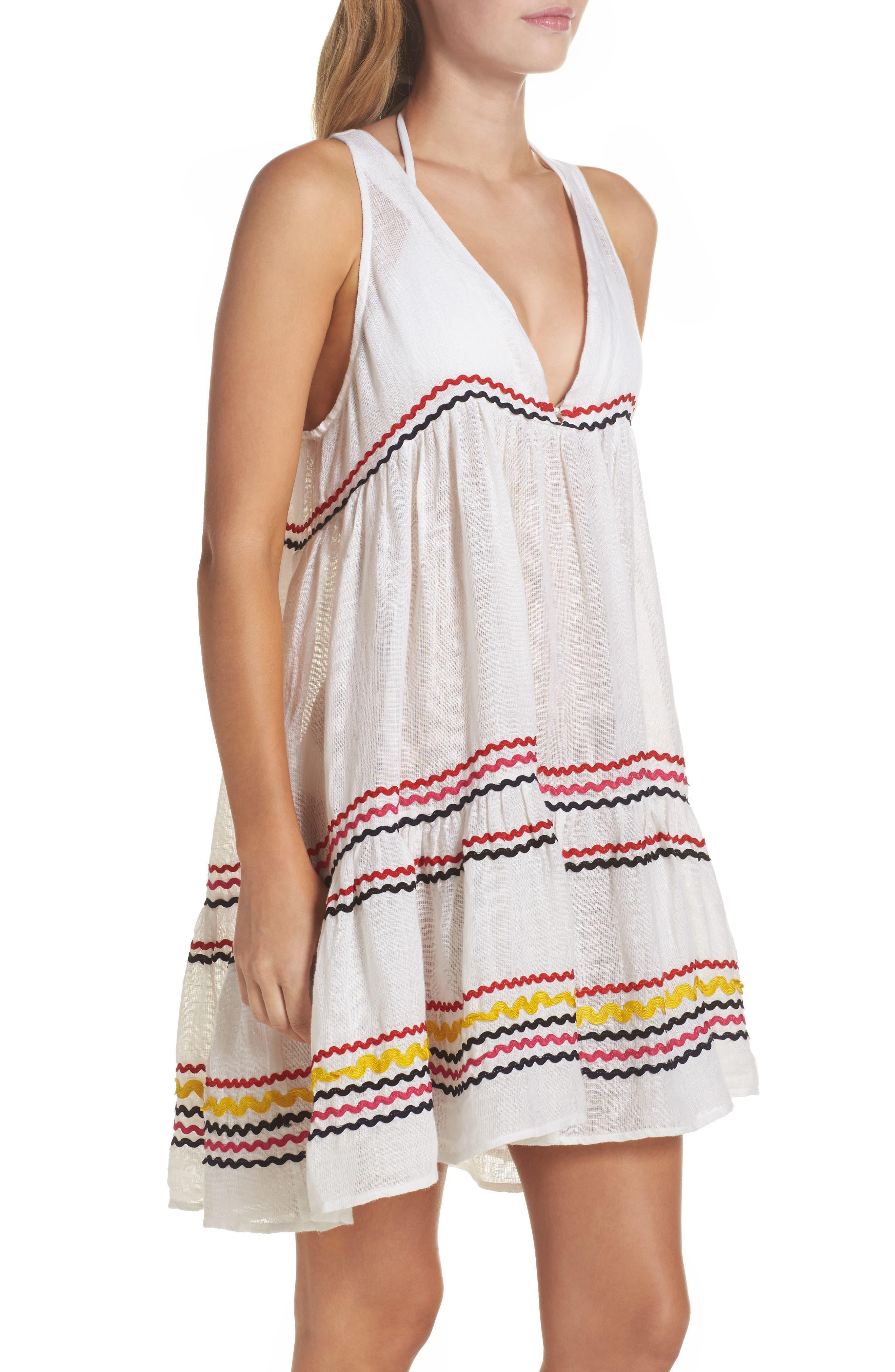 Mira Cover-Up Dress,                             Alternate thumbnail 3, color,                             Multi White