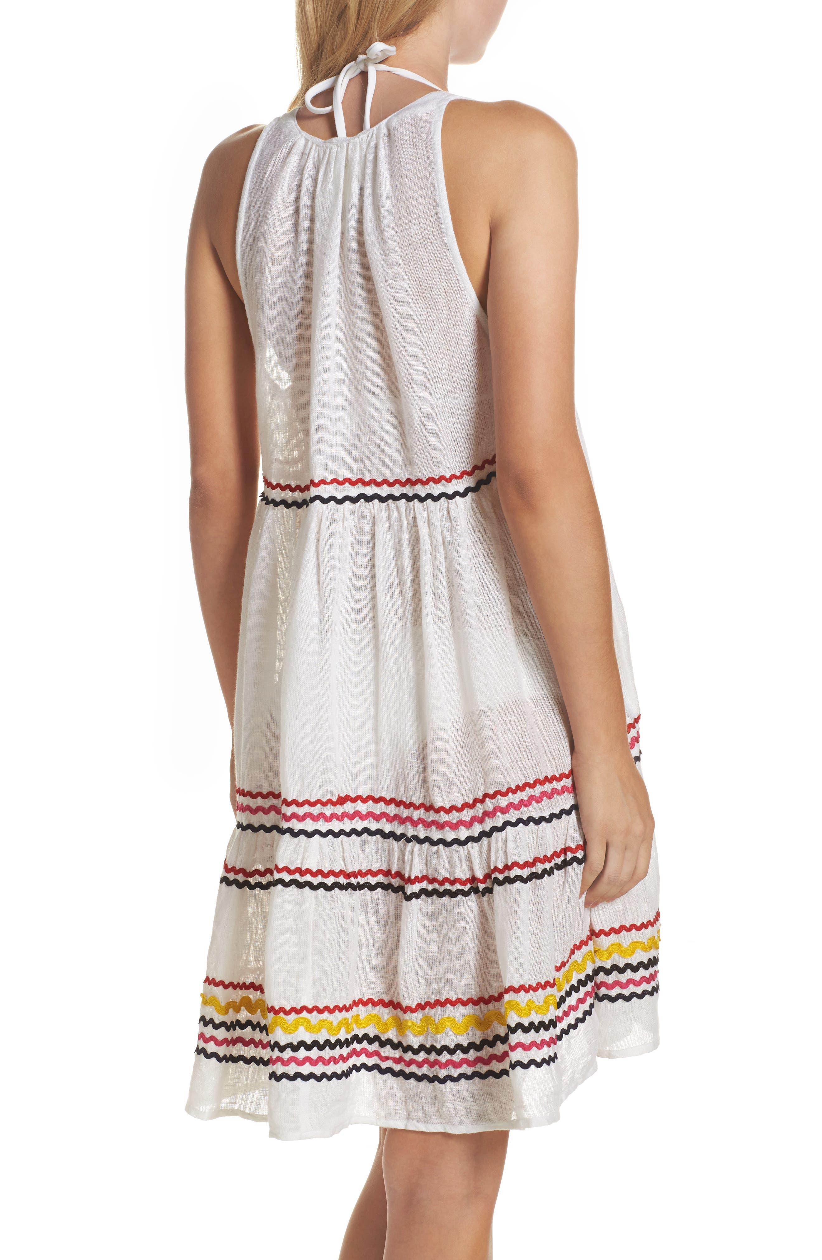 Mira Cover-Up Dress,                             Alternate thumbnail 2, color,                             Multi White