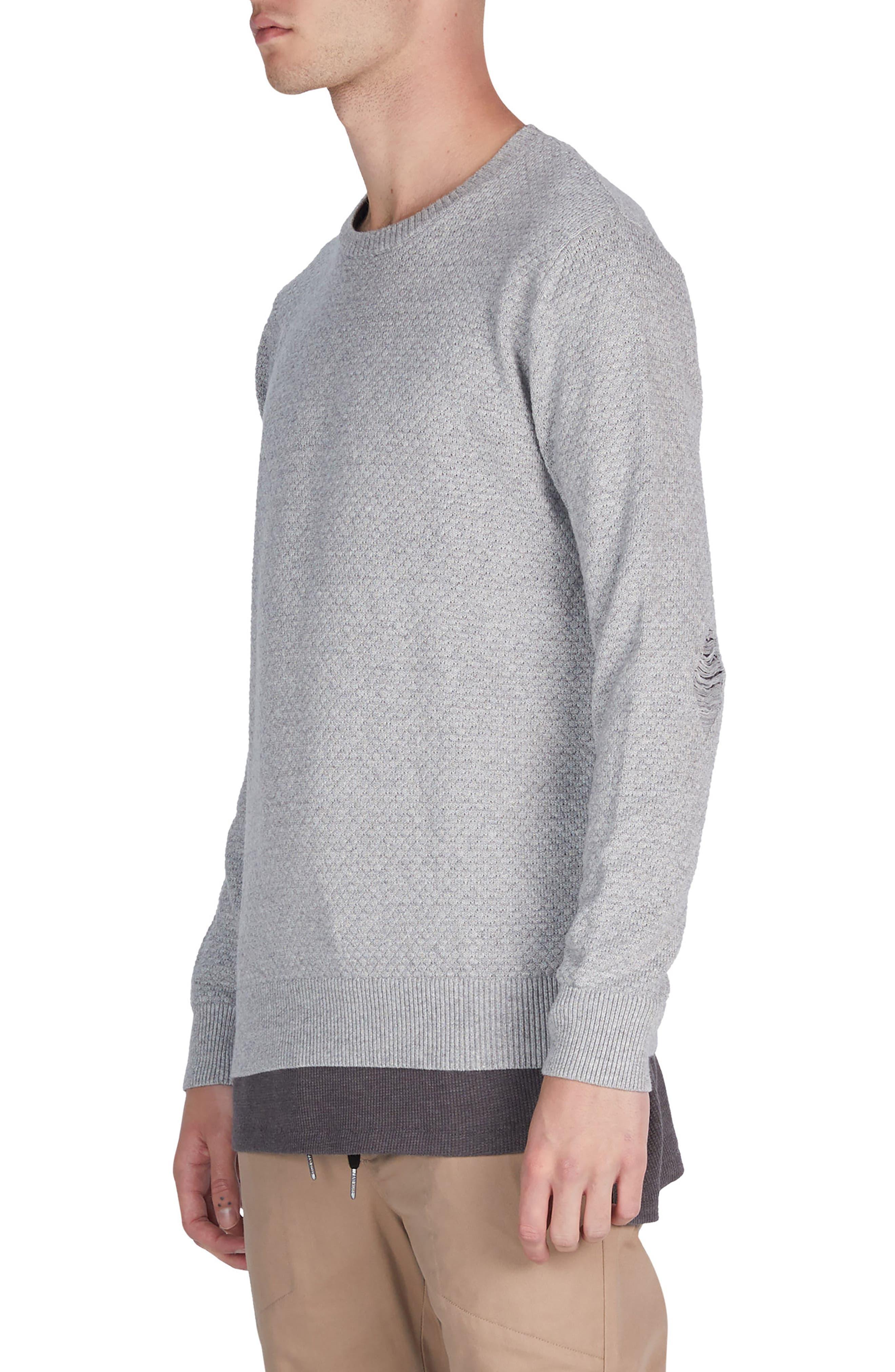 Grip Crewneck Sweater,                             Alternate thumbnail 4, color,                             Grey Marle