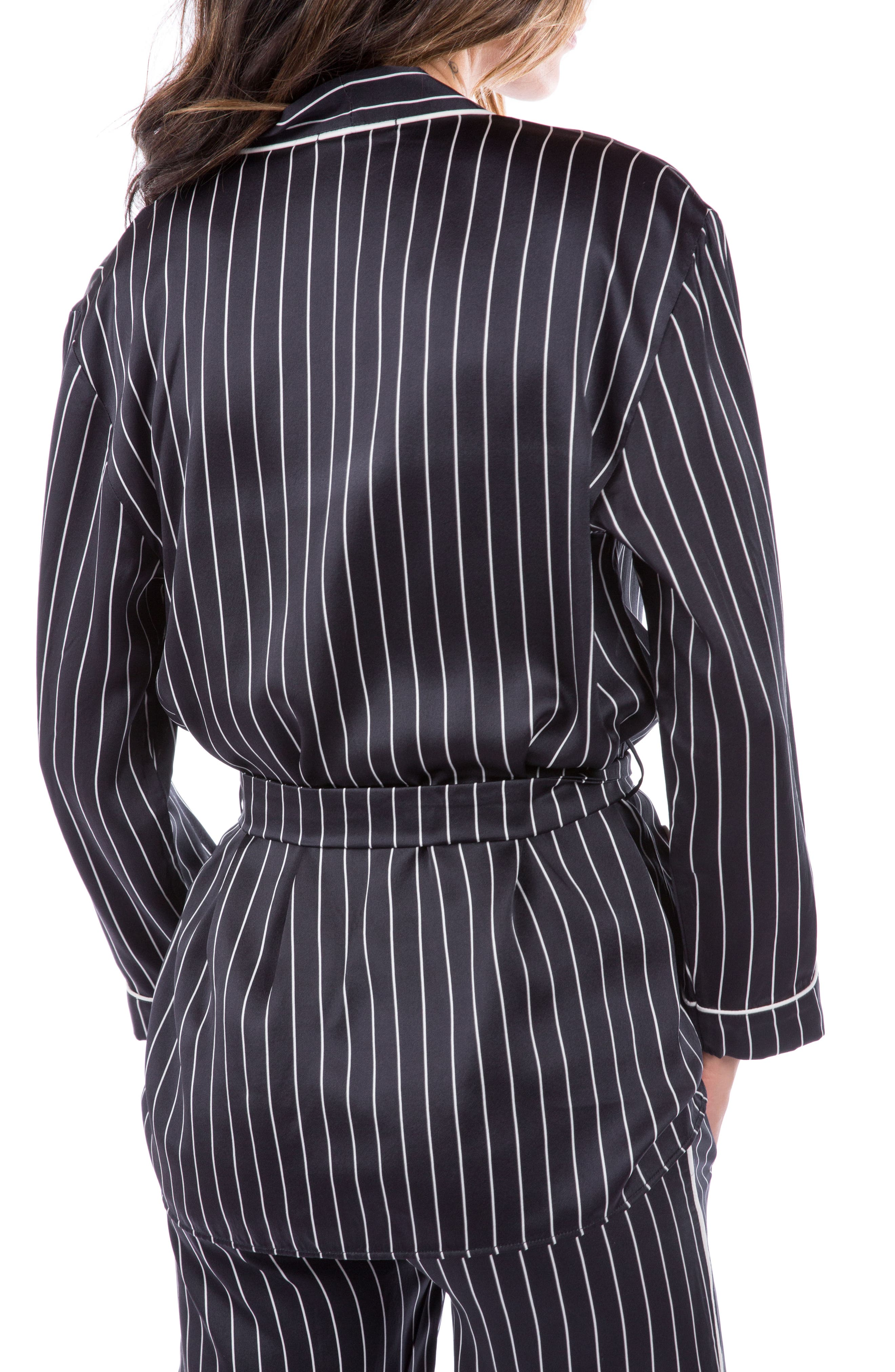 Alternate Image 2  - Ragdoll Pinstripe Silk Pajama Top