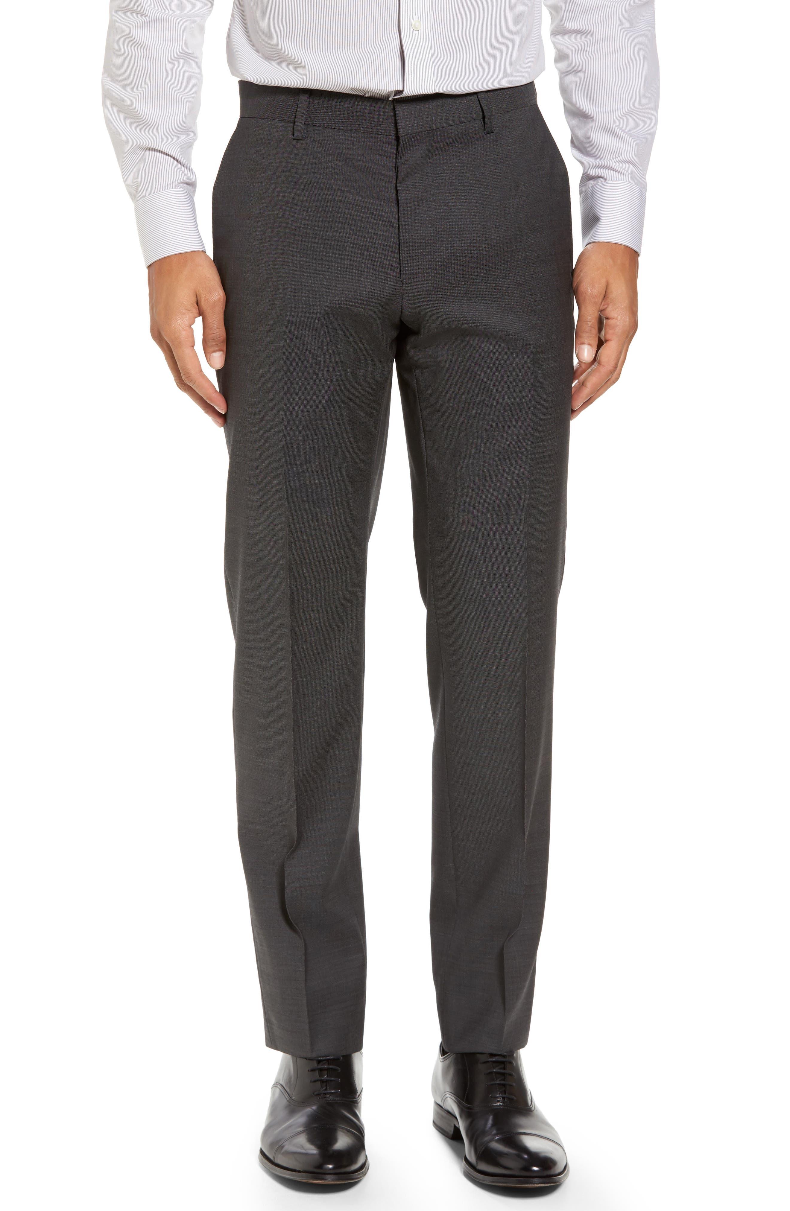 Huge/Genius Trim Fit Solid Wool Suit,                             Alternate thumbnail 6, color,                             Open Grey