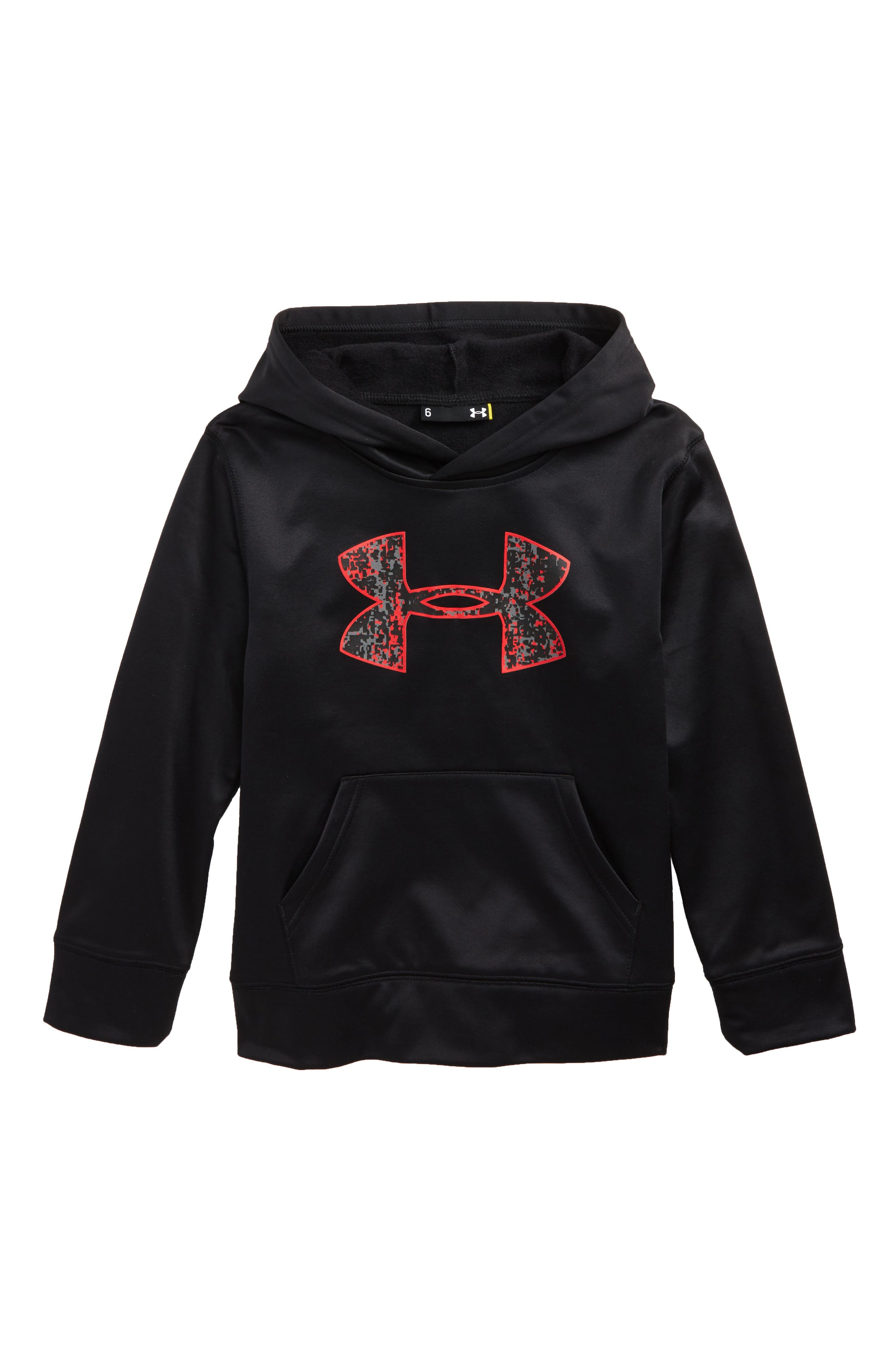 Alternate Image 1 Selected - Under Armour Digital City Logo Pullover Hoodie (Little Boys)