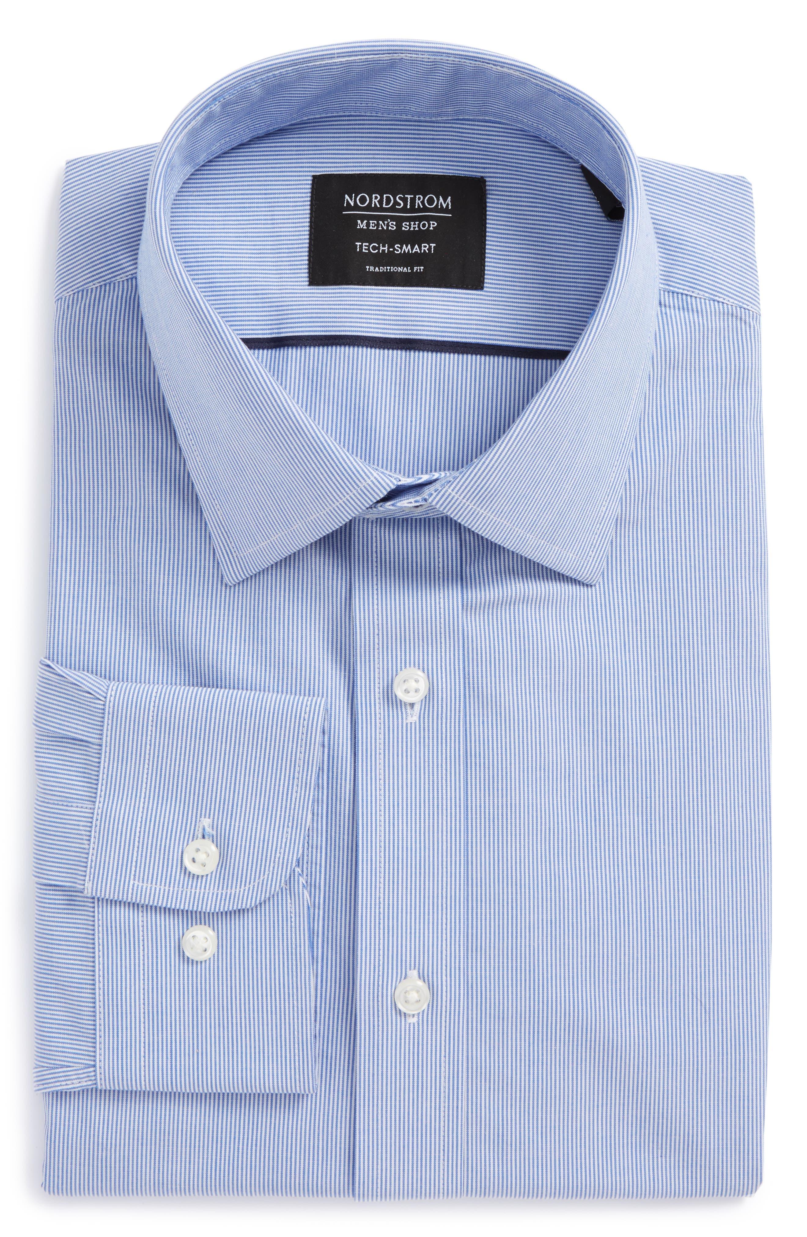 Nordstrom Men's Shop Tech-Smart Traditional Fit Stripe Dress Shirt