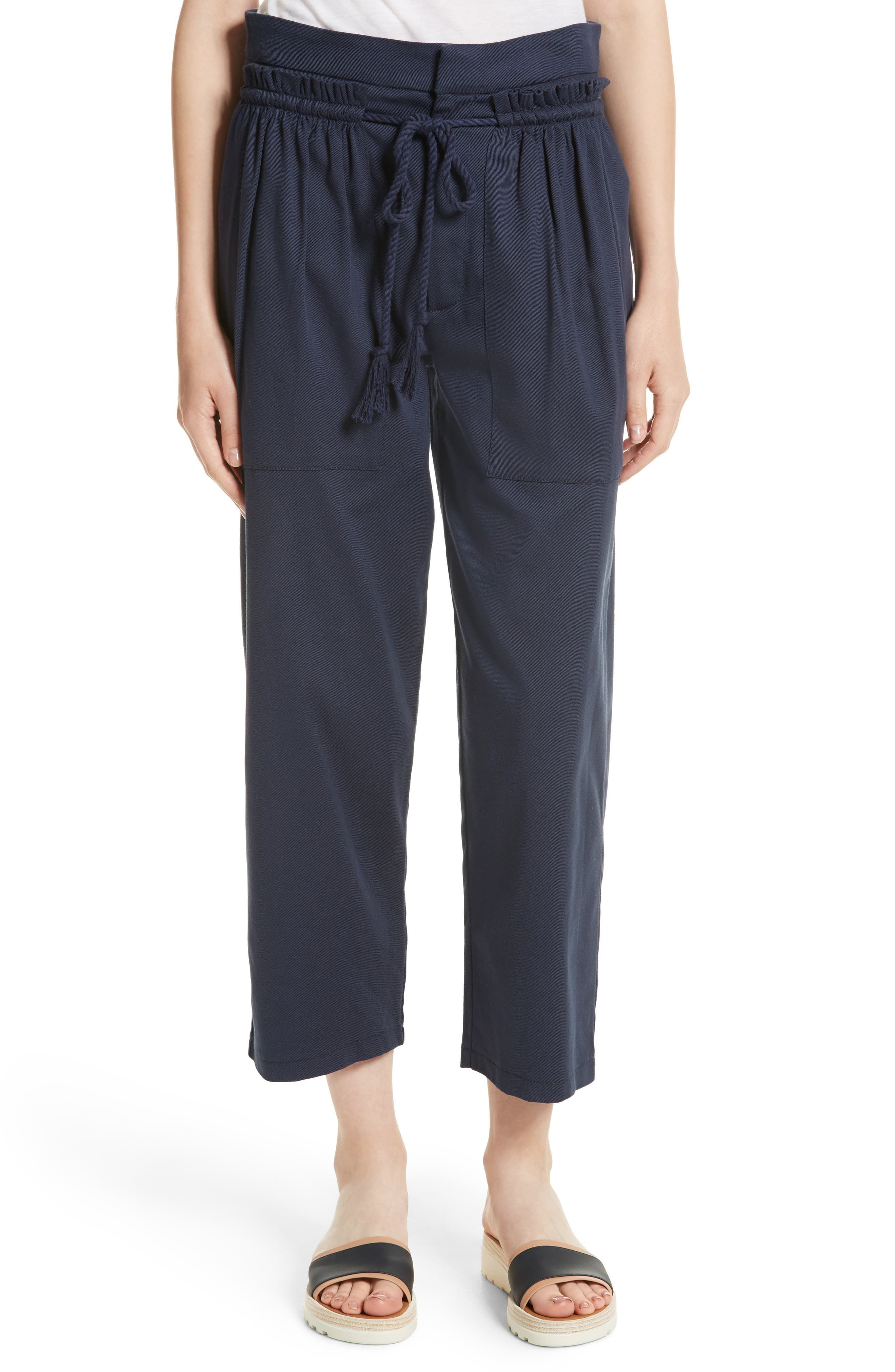 See by Chloé Ruffle Trim Drawstring Pants