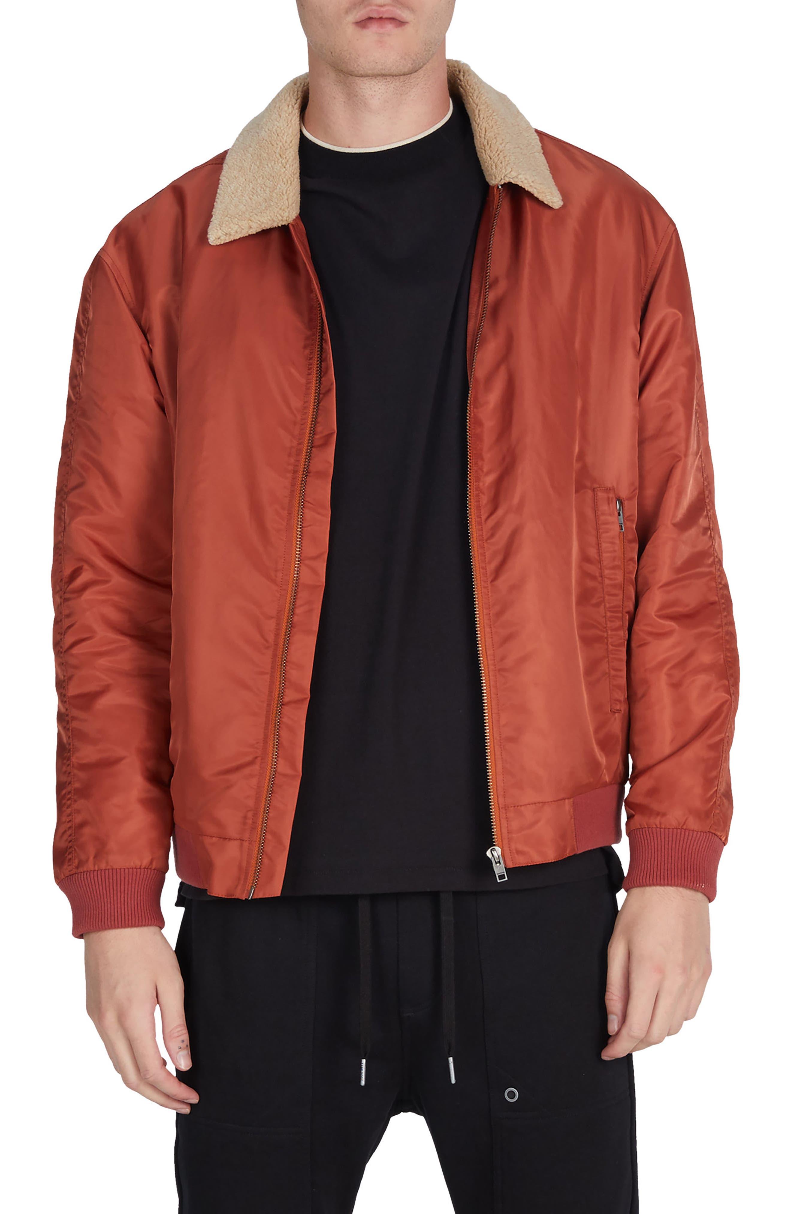 Alternate Image 1 Selected - ZANEROBE Yeti Nylon Jacket with Faux Shearling Trim