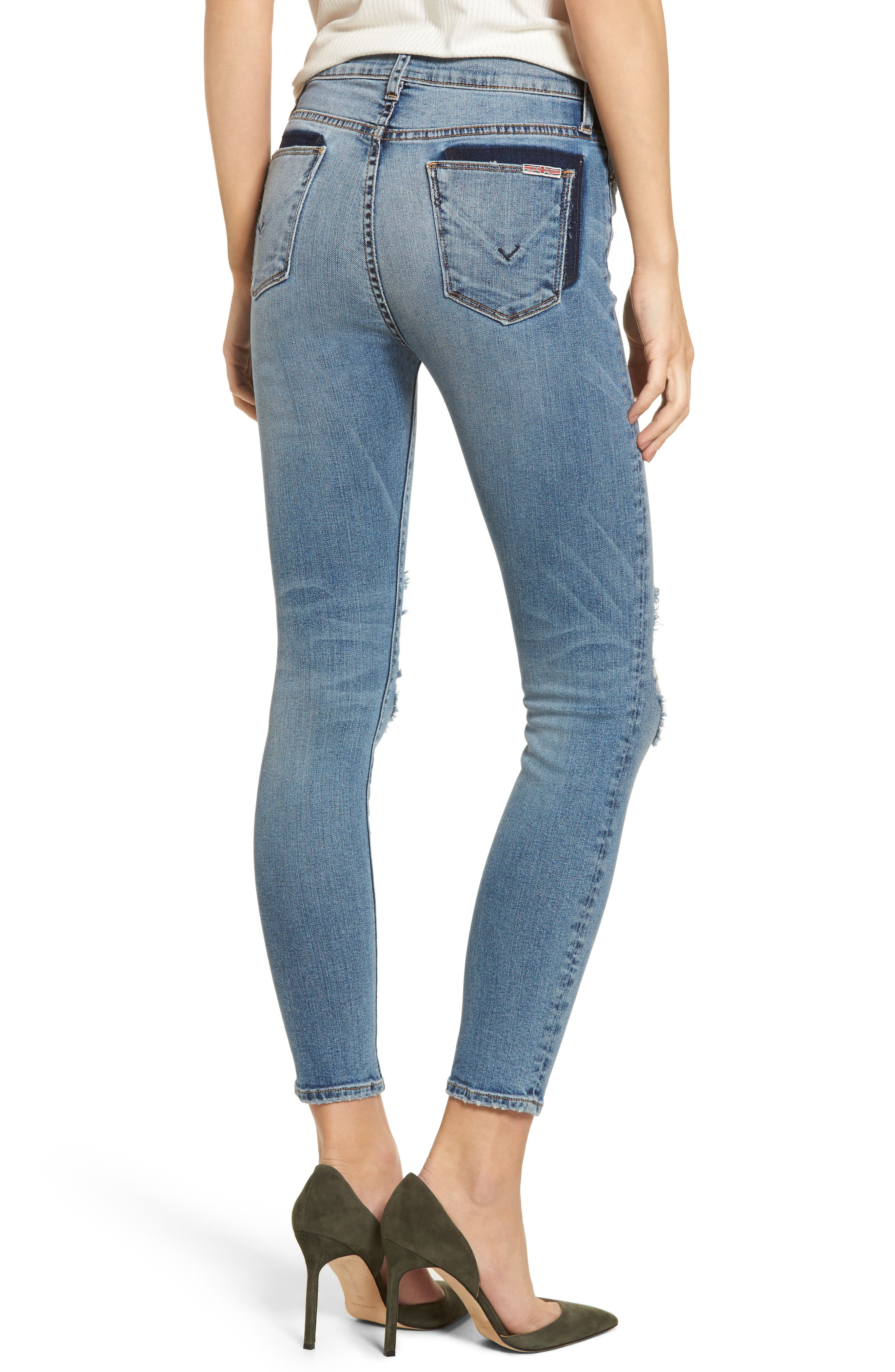 Barbara High Waist Ankle Skinny Jeans,                             Alternate thumbnail 2, color,                             Confection