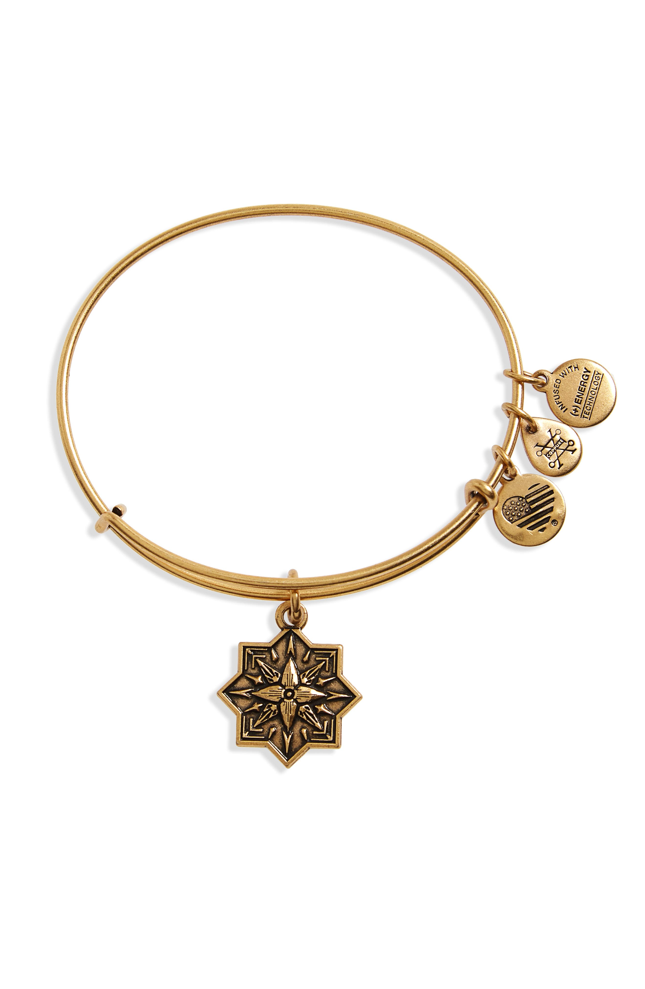 Alex and Ani Healing Love Adjustable Wire Bangle