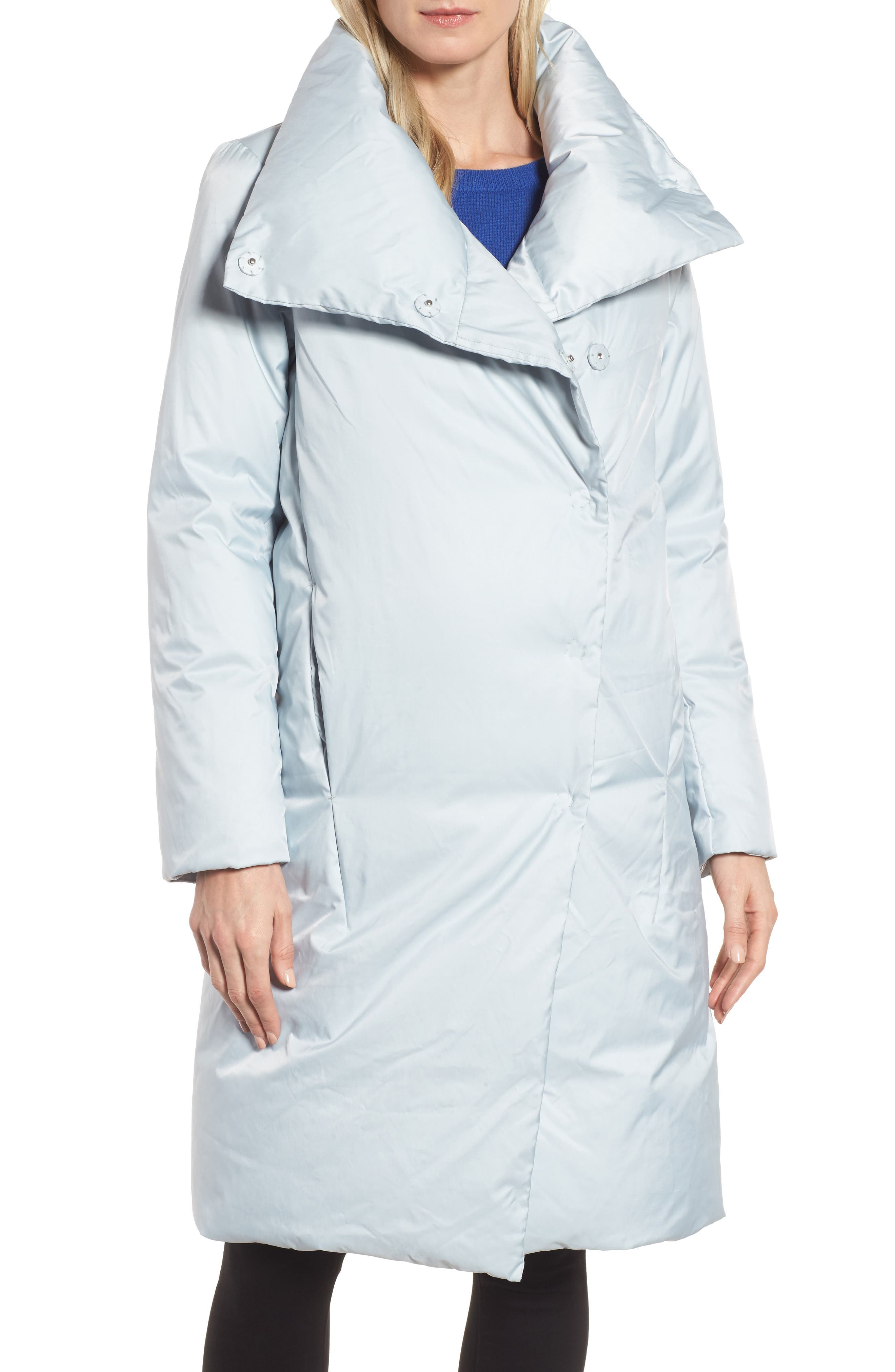 DKNY Water Resistant Twill Puffer Coat