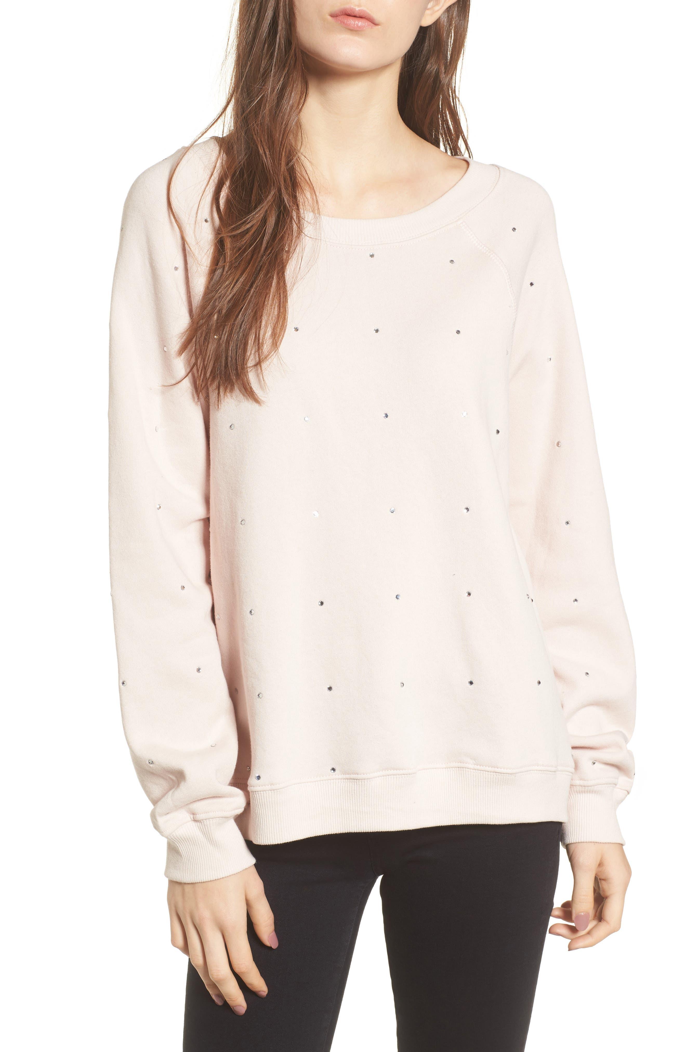 Glitz Sweatshirt,                         Main,                         color, Iced Lavender