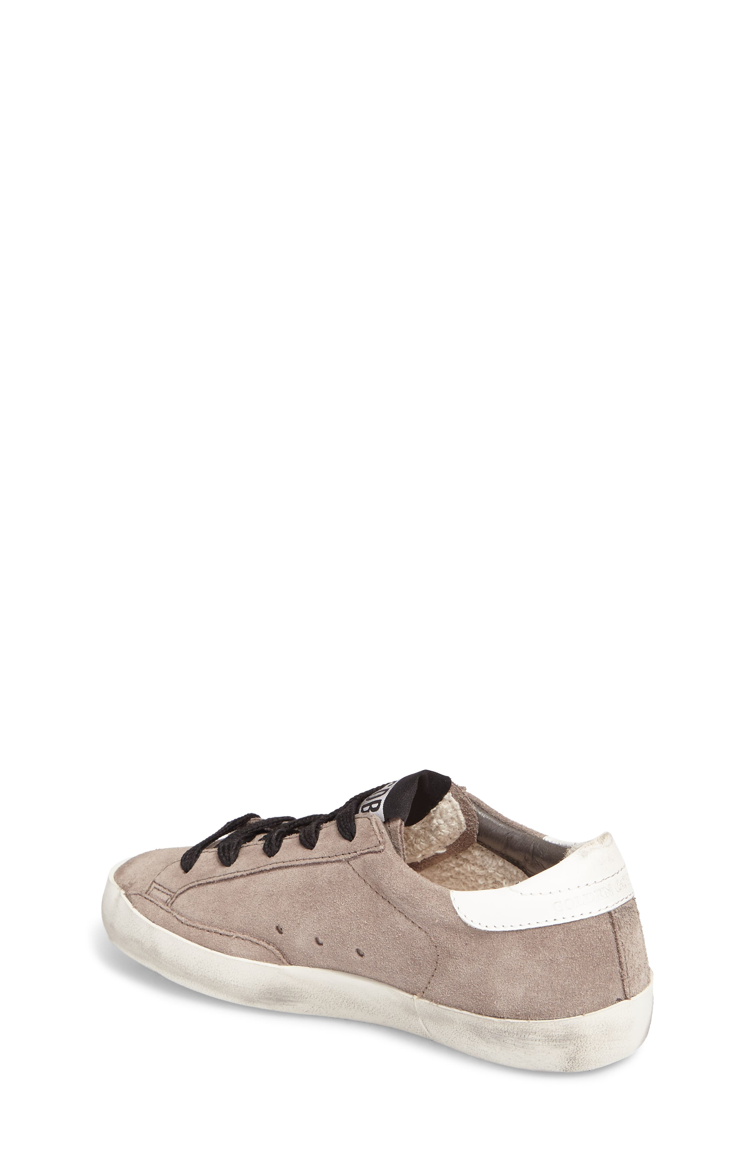 Superstar Low Top Sneaker,                             Alternate thumbnail 2, color,                             Mid Grey Suede