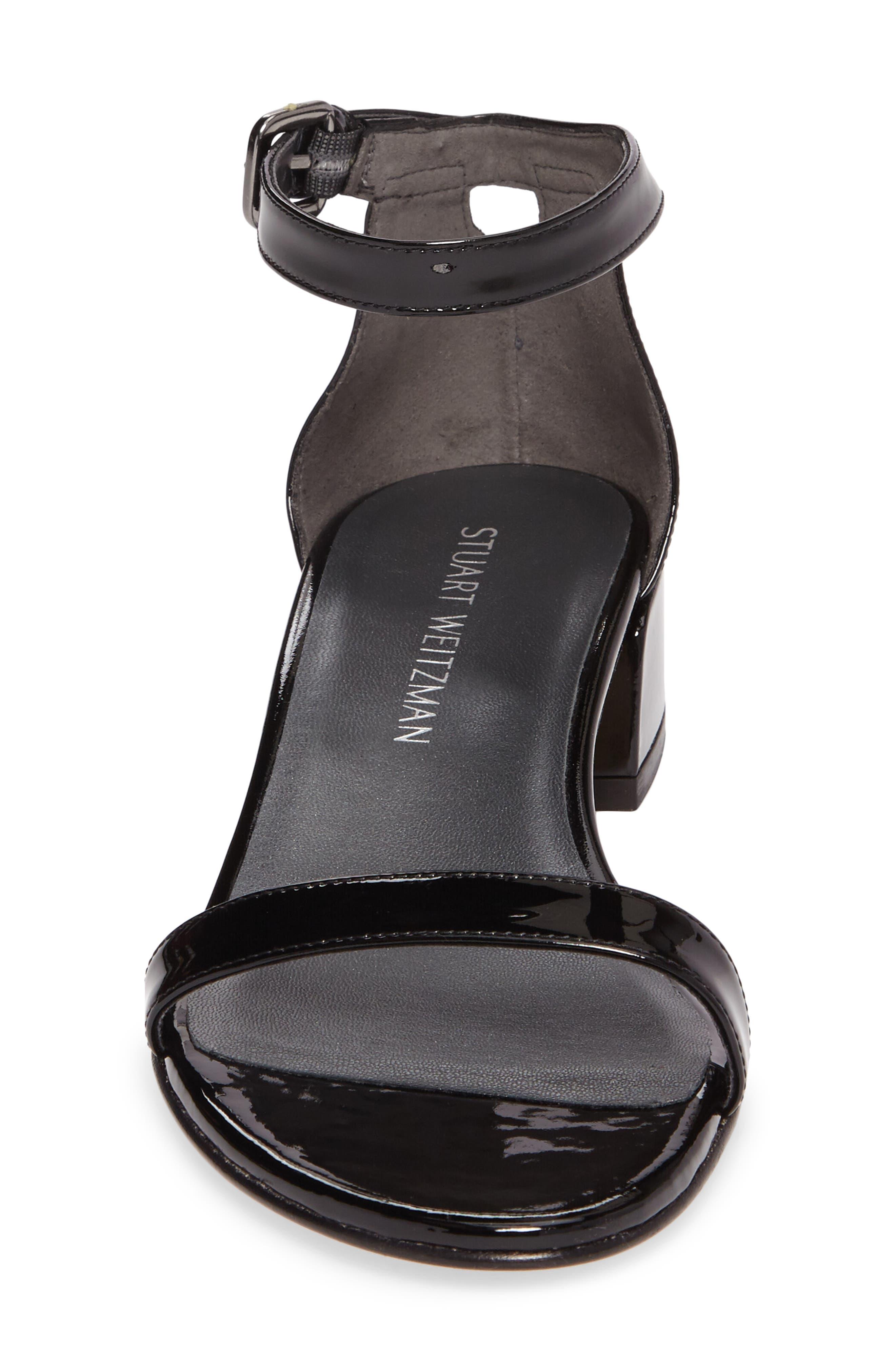 NudistJune Block Heel Sandal,                             Alternate thumbnail 4, color,                             Black Patent