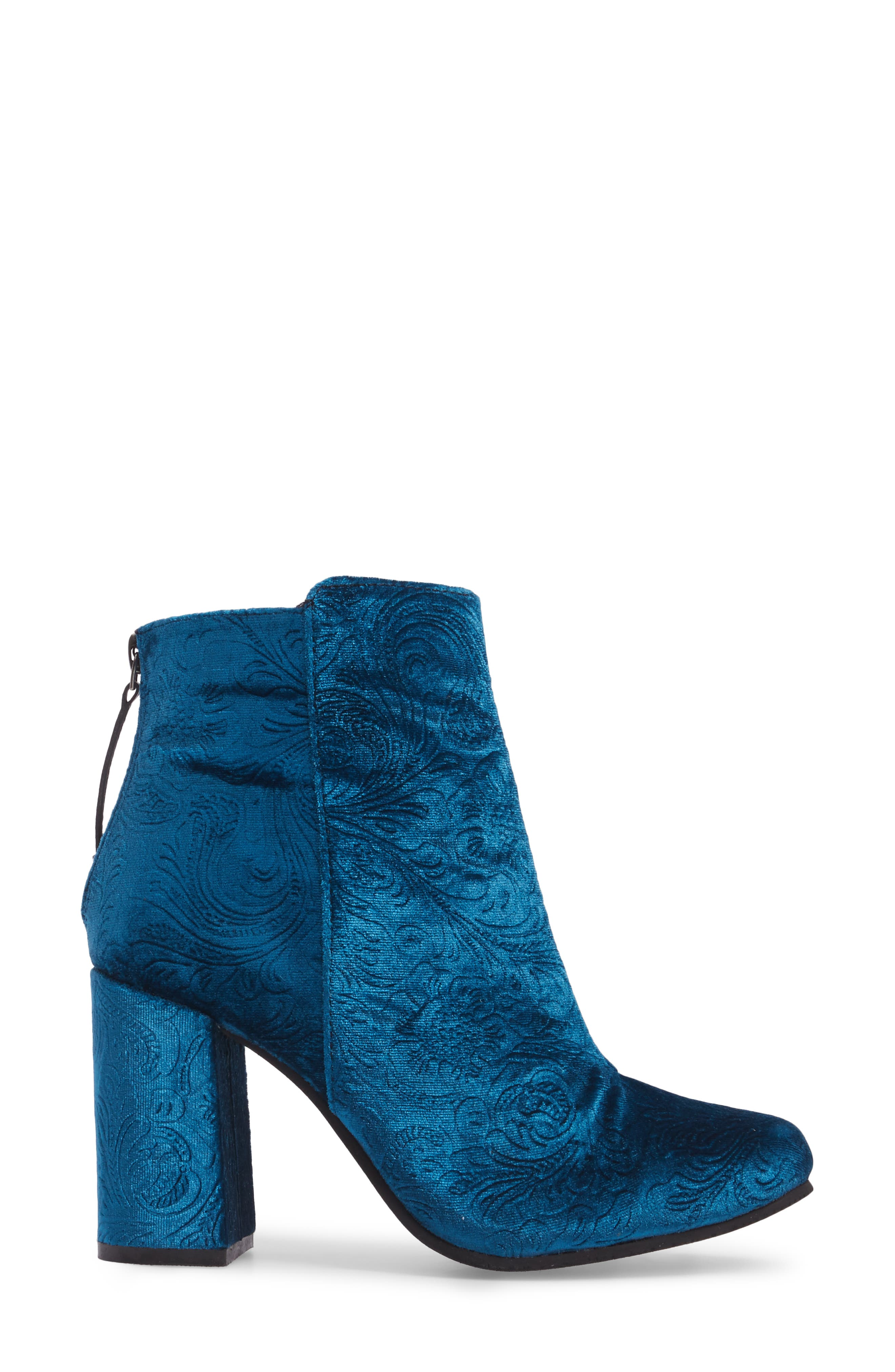 Nadonna Bootie,                             Alternate thumbnail 3, color,                             Teal Fabric