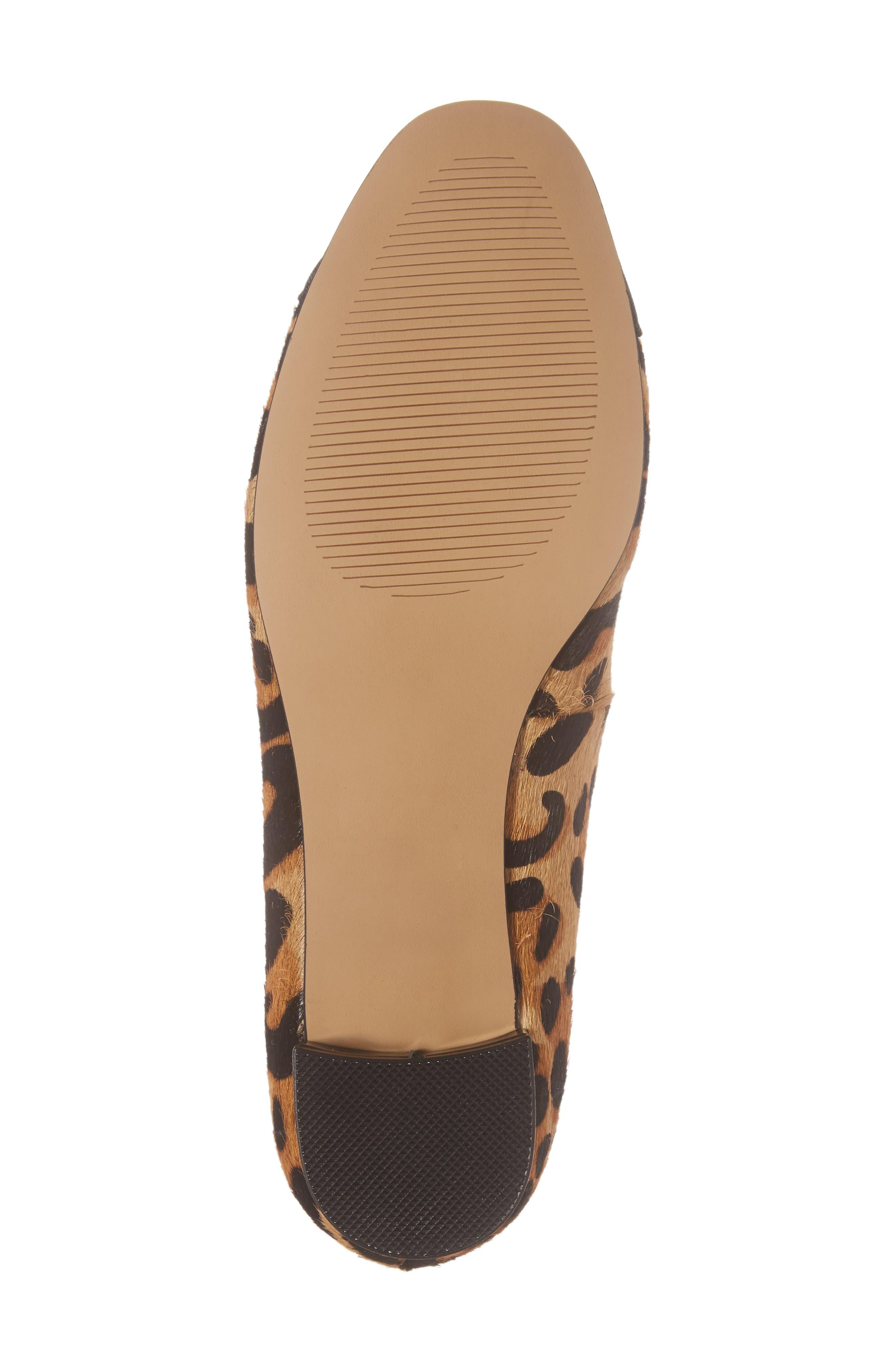 Brea Flat,                             Alternate thumbnail 6, color,                             Leopard Calf Hair
