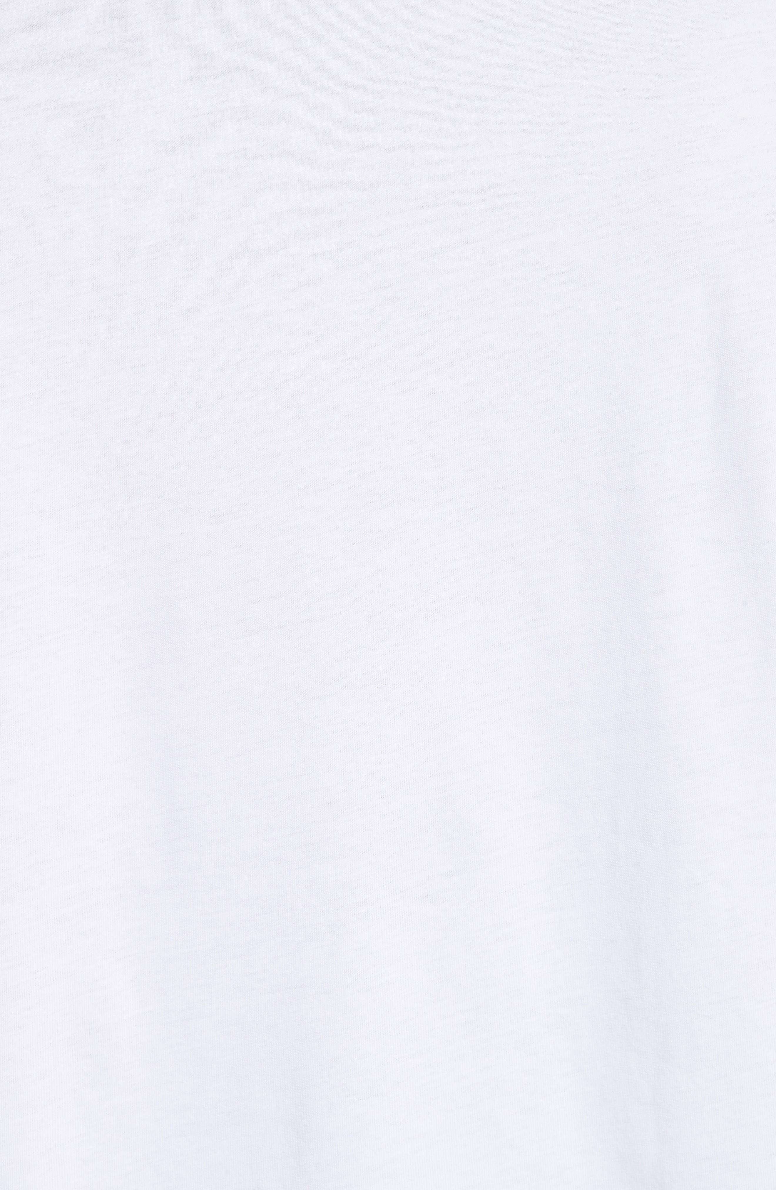 Plastic Sleeve T-Shirt,                             Alternate thumbnail 5, color,                             White