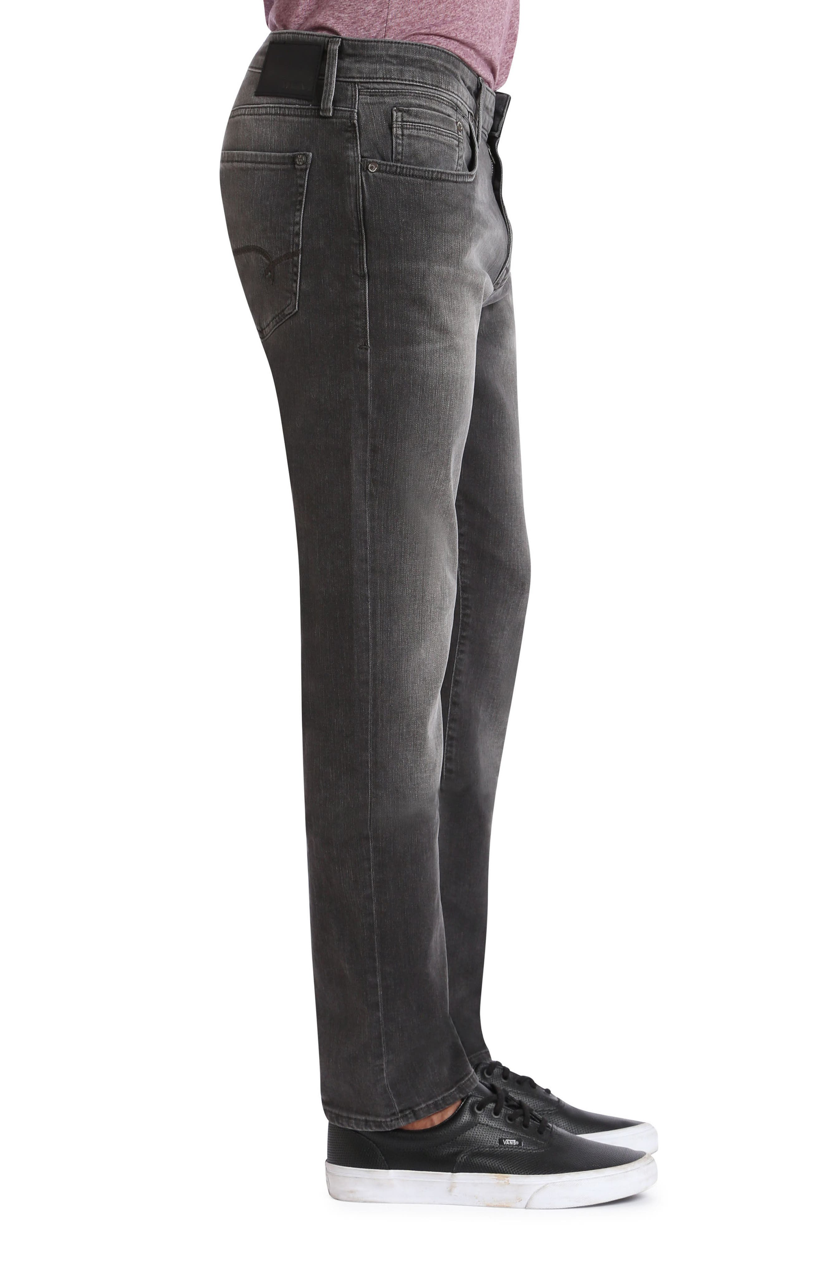 Alternate Image 3  - Mavi Jeans Jake Slim Fit Jeans (Grey Distressed Williamsburg)