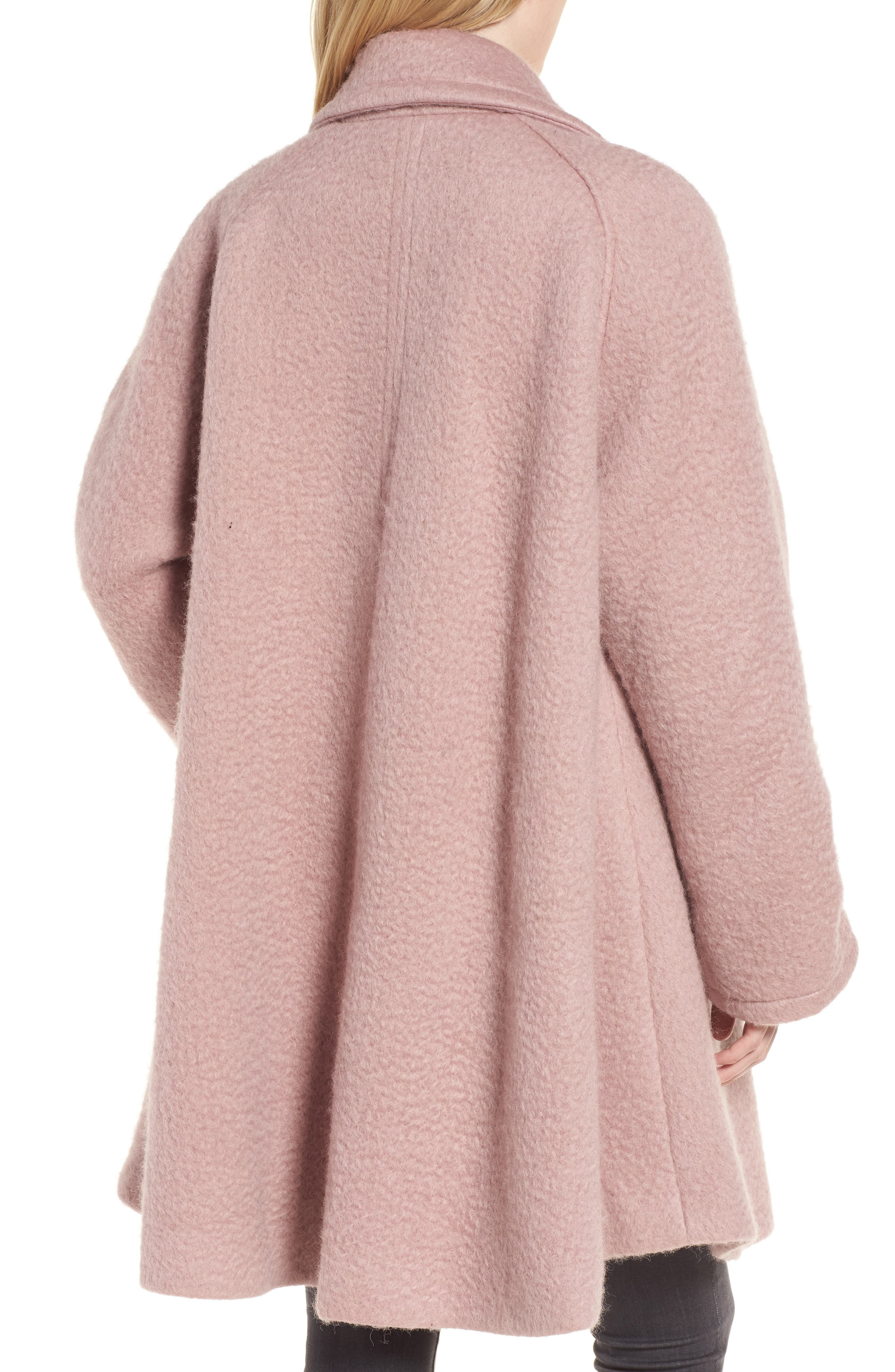 Swing Coat,                             Alternate thumbnail 2, color,                             Light Pink
