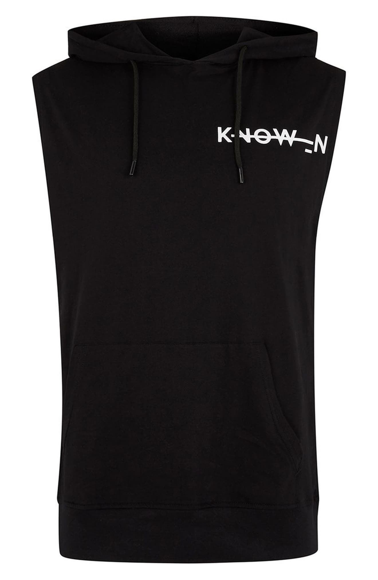 Known Logo Graphic Hooded Tank,                             Alternate thumbnail 4, color,                             Black