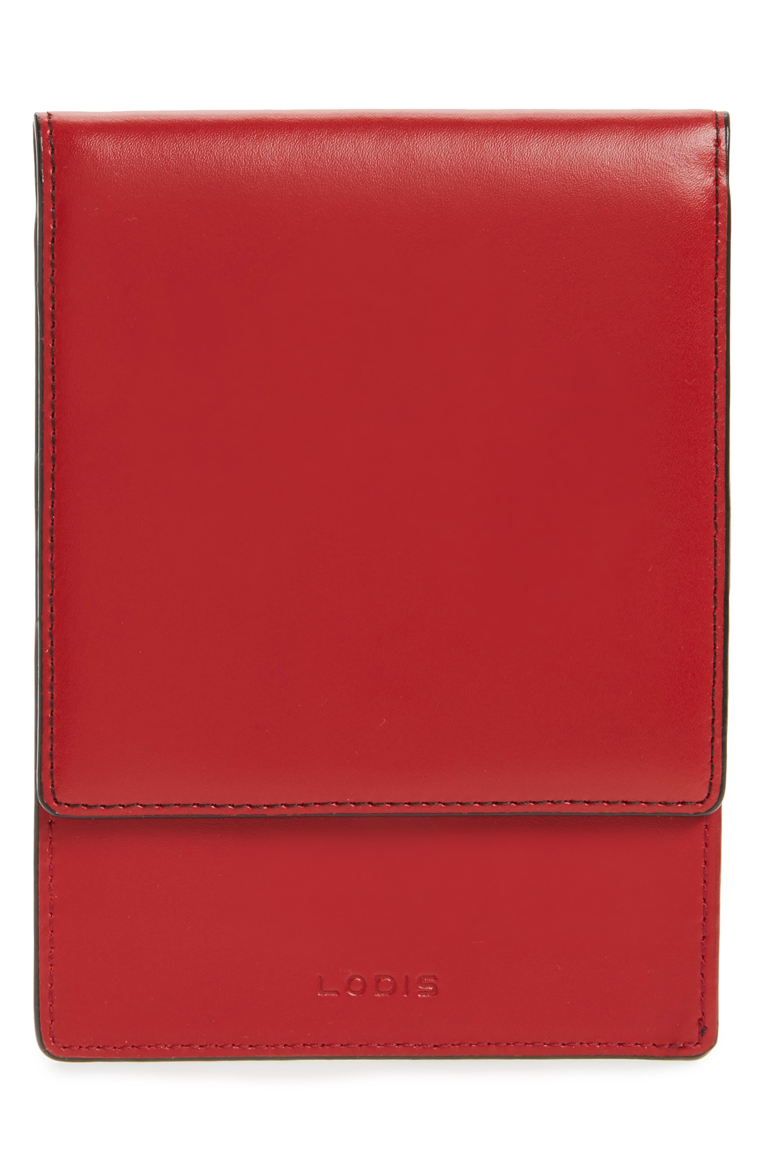 LODIS Audrey Under Lock & Key Skyler Leather Passport Wallet