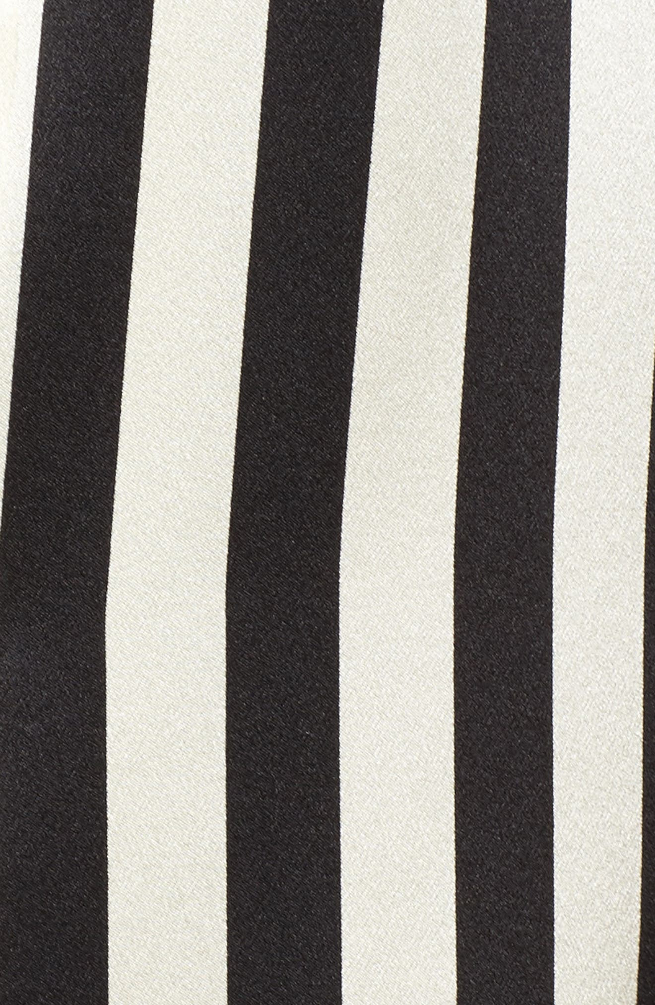 x Amanda Fatherazi Ruthie Mini Mask Stripe Pajama Top,                             Alternate thumbnail 7, color,                             Noir/ Ecru