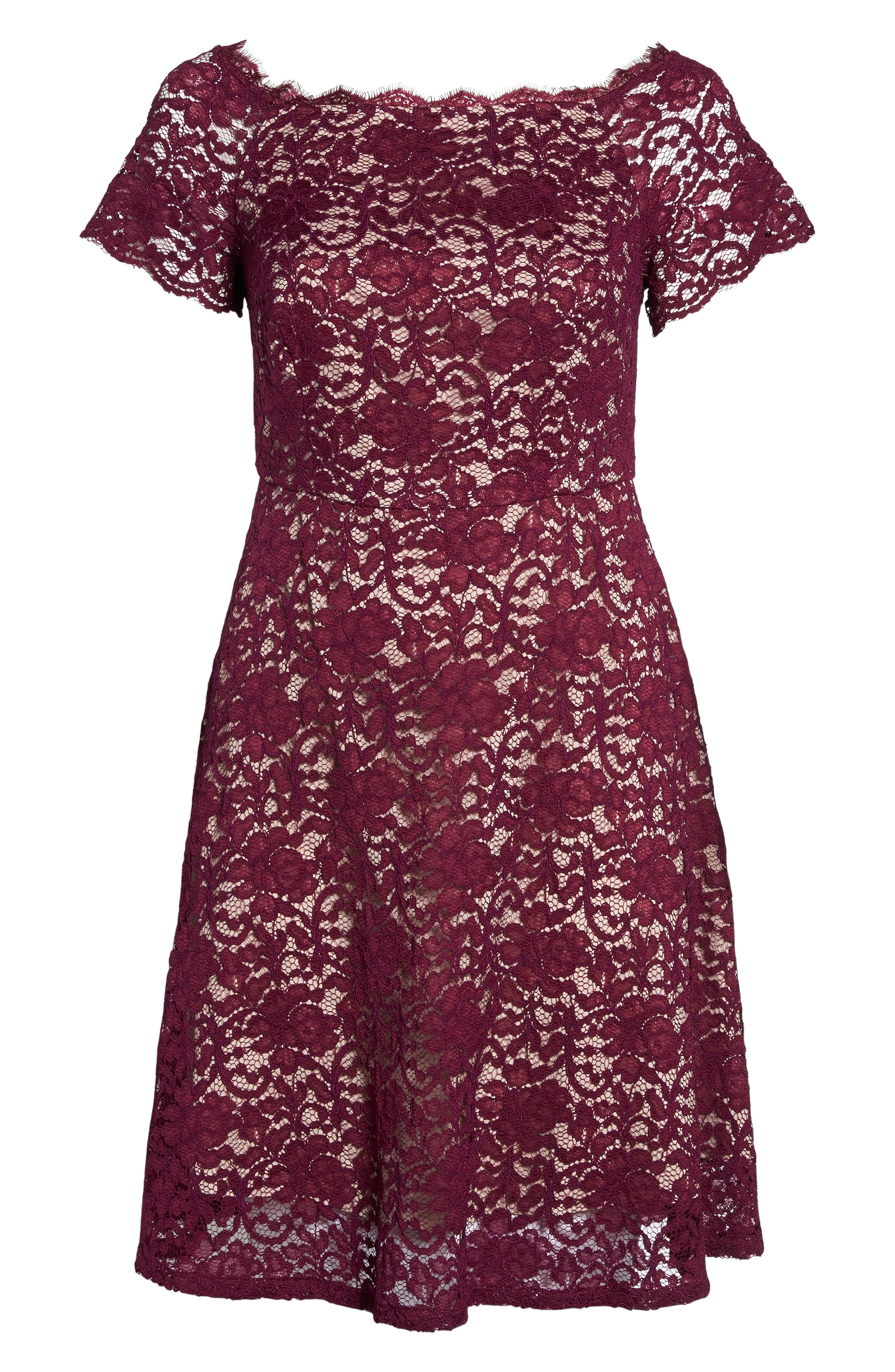 Alternate Image 6  - Adrianna Papell Fit & Flare Lace Dress (Plus Size)