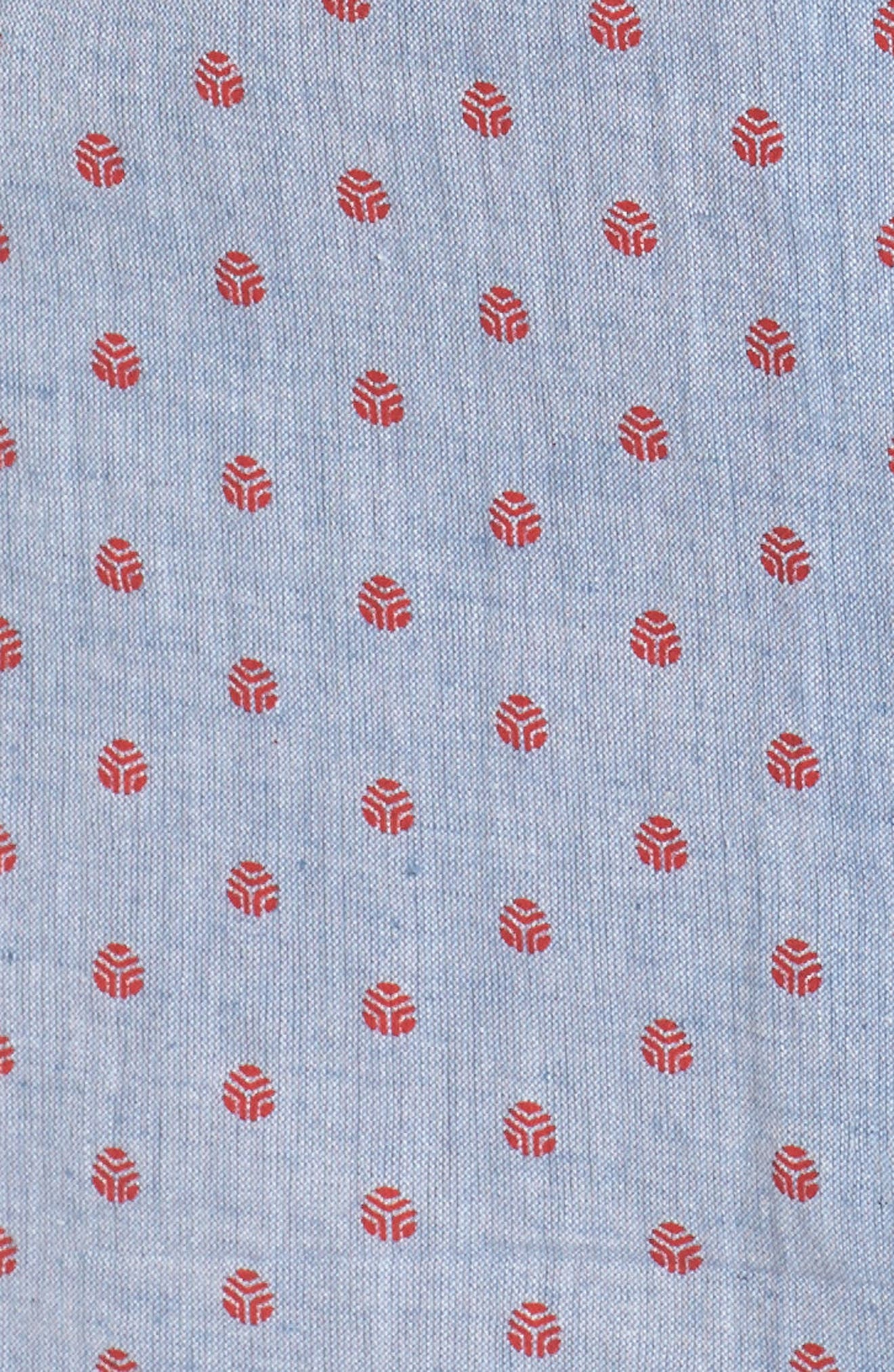 Alternate Image 5  - Loungerie Print Washed Cotton Sleep Shirt