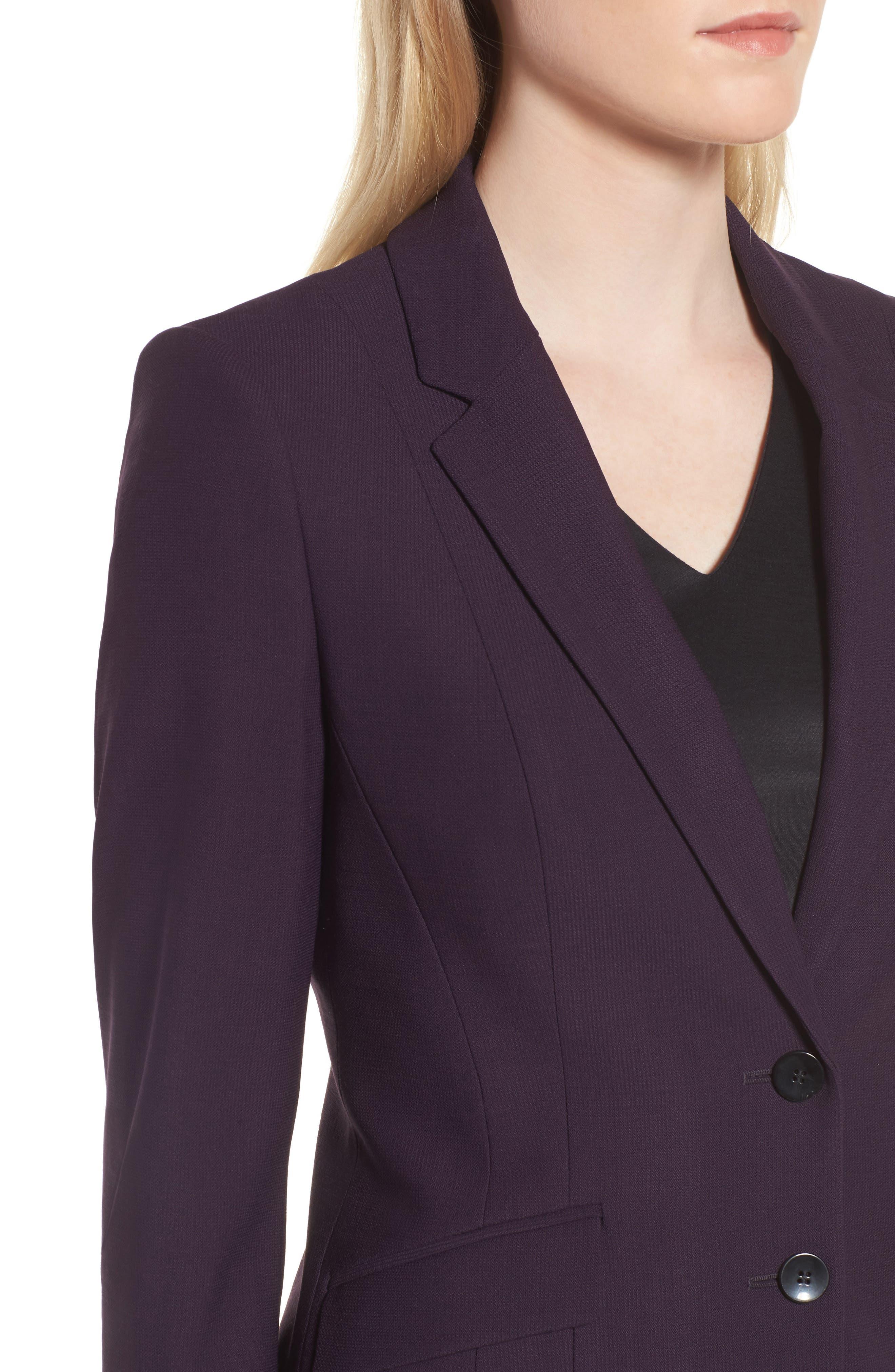 Alternate Image 4  - BOSS Jonalua Stretch Wool Suit Jacket (Regular & Petite)