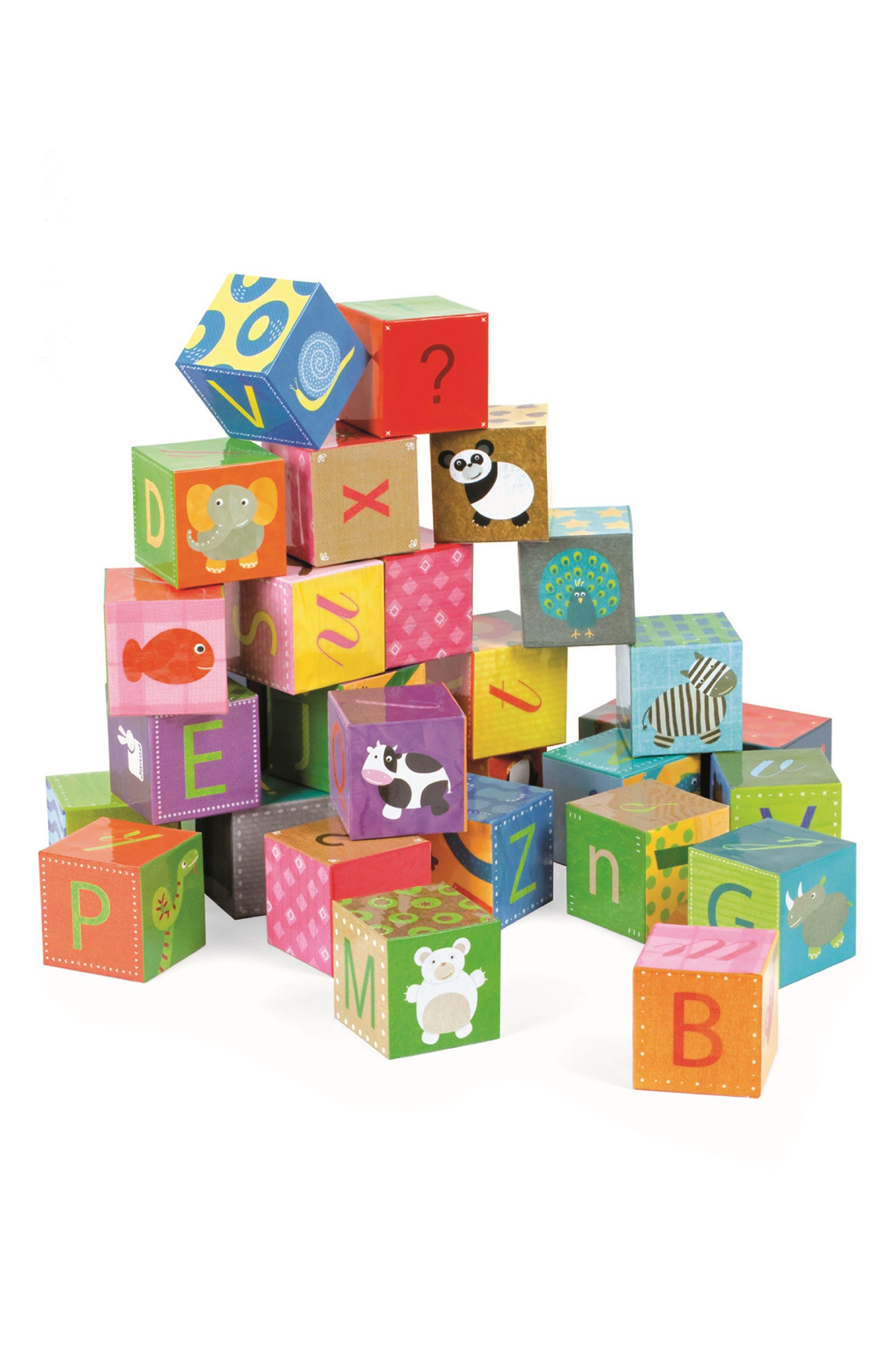 Kubkid 32-Piece Block Set,                             Alternate thumbnail 4, color,                             Orange Multi