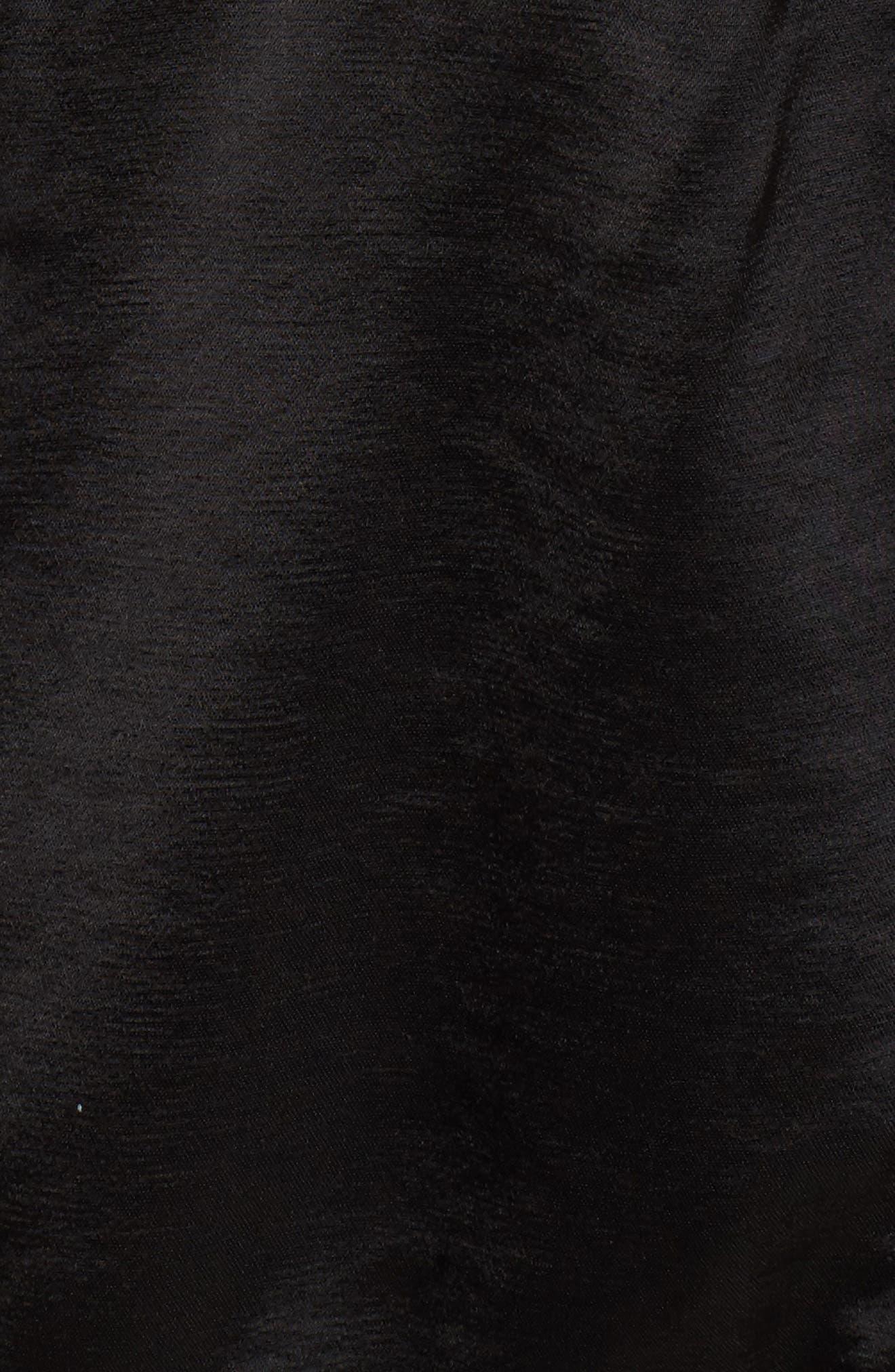 Satin Track Jacket,                             Alternate thumbnail 5, color,                             Black
