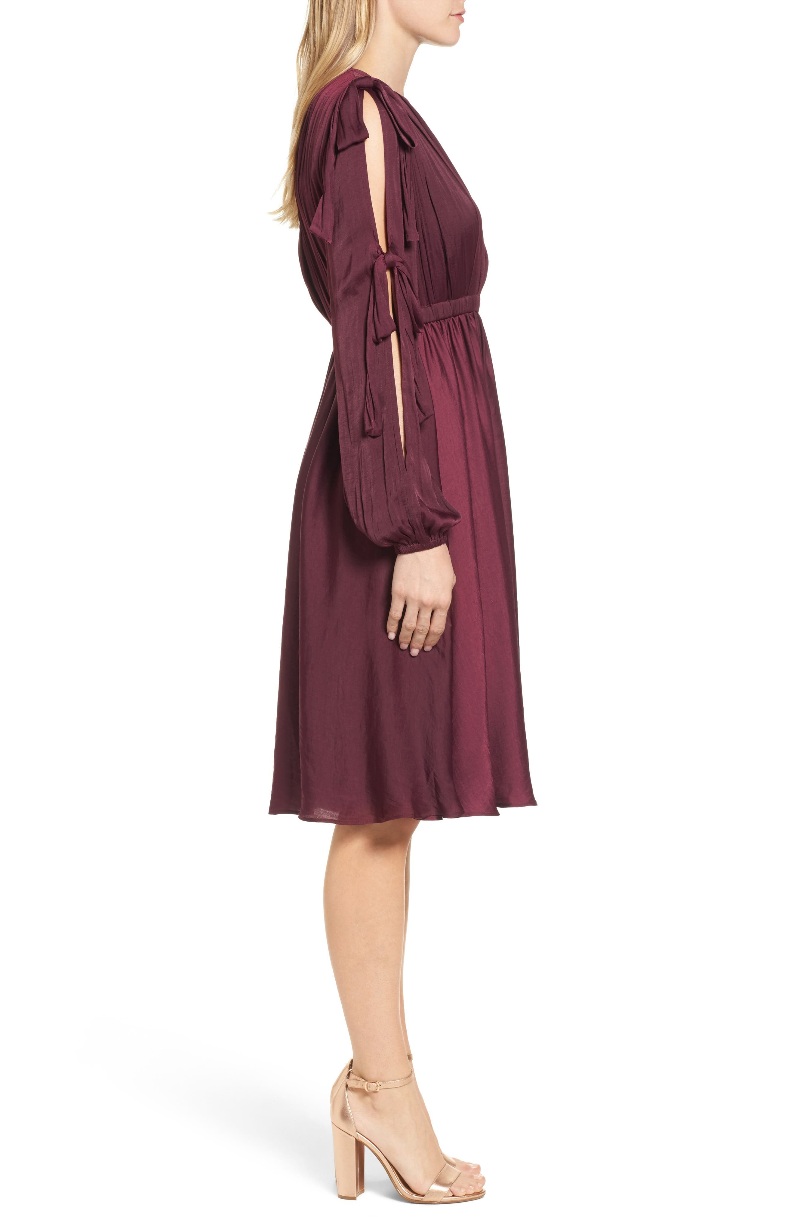 Mena Dress,                             Alternate thumbnail 3, color,                             Grape Wine