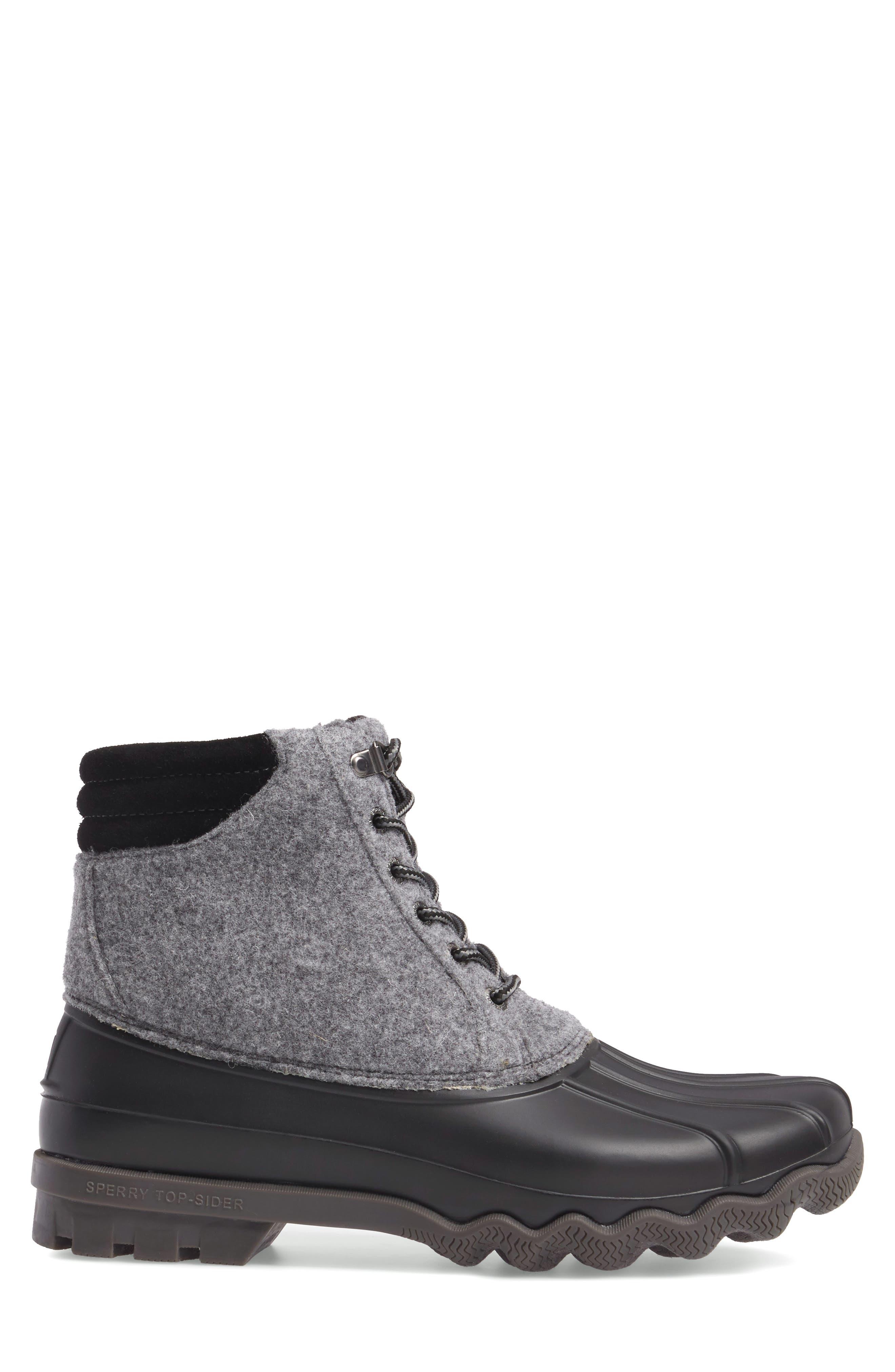 Avenue Rain Boot,                             Alternate thumbnail 3, color,                             Grey Leather
