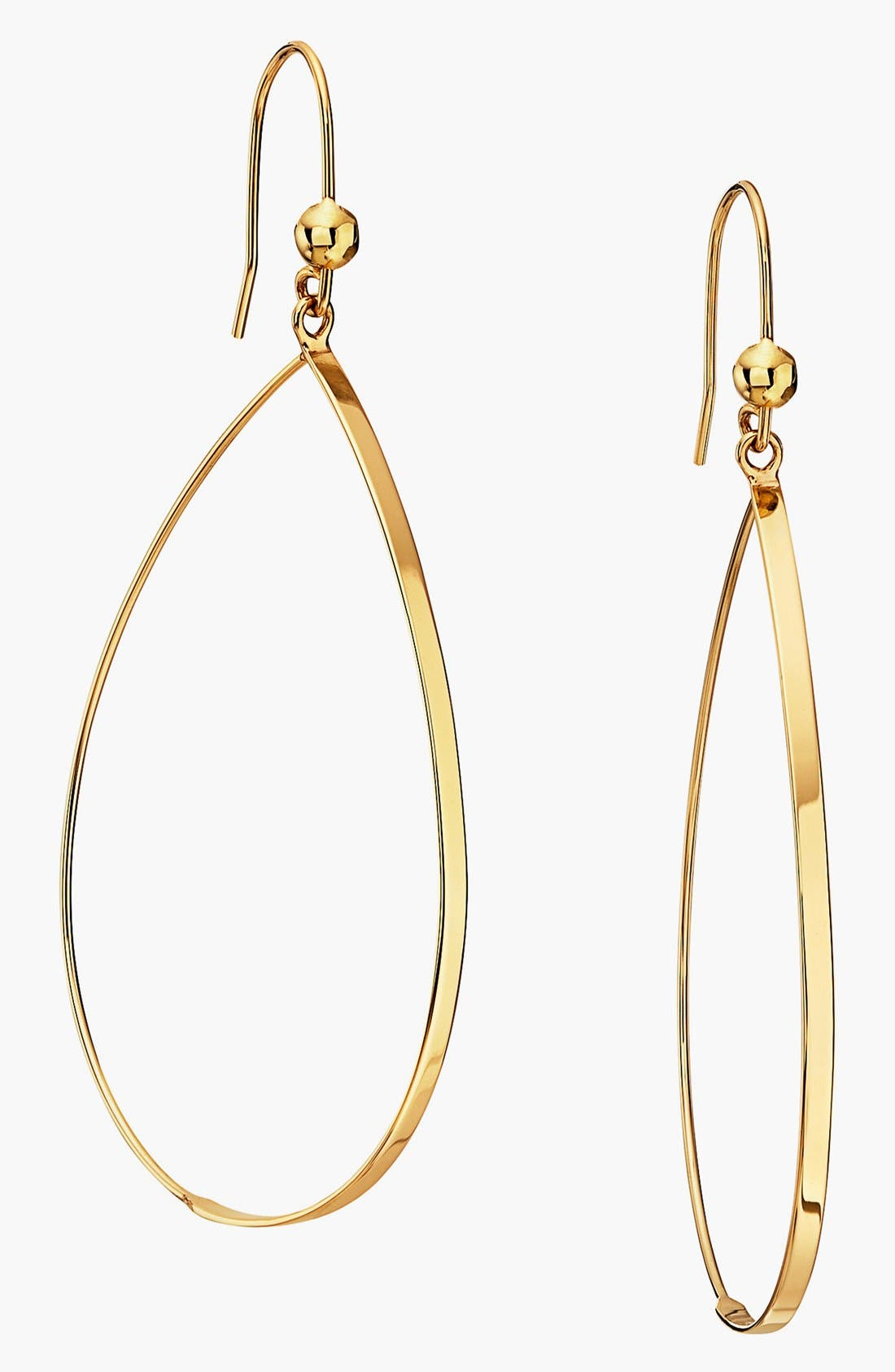 Alternate Image 1 Selected - Lana Jewelry 'Flat Oval' Small Drop Earrings