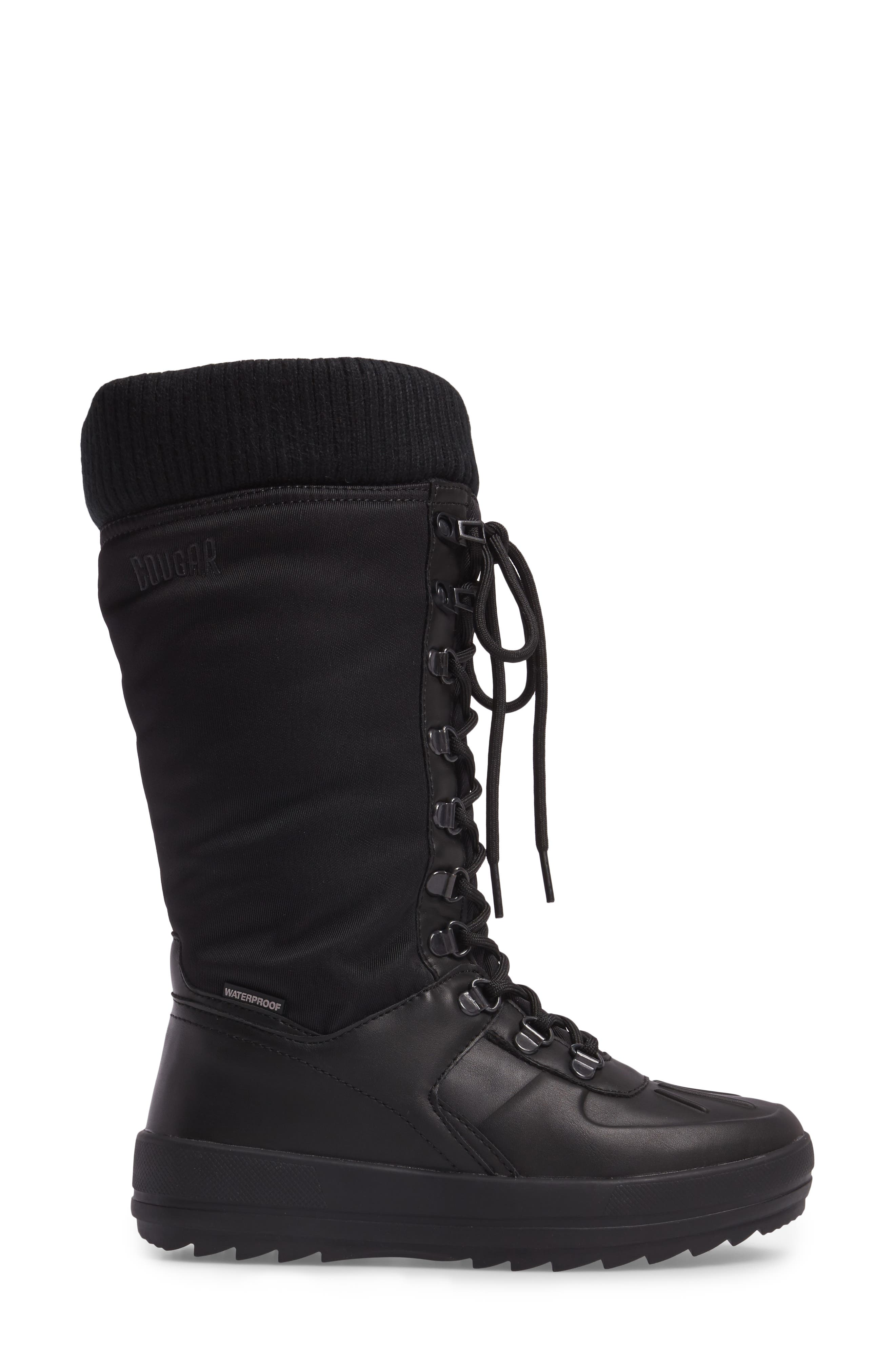 Vancouver Waterproof Winter Boot,                             Alternate thumbnail 3, color,                             Black All Over