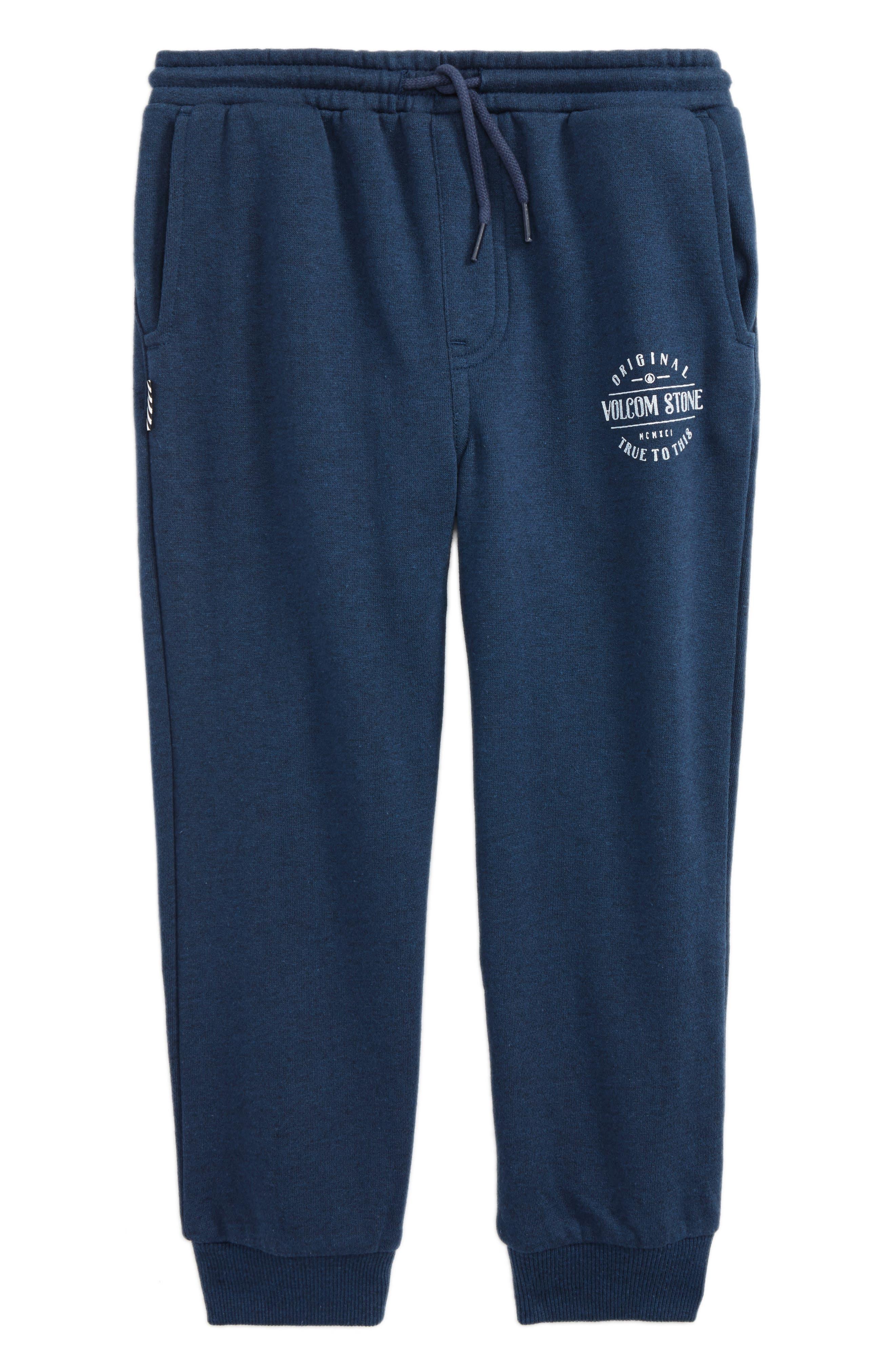Graphic Fleece Sweatpants,                         Main,                         color, Blue Black