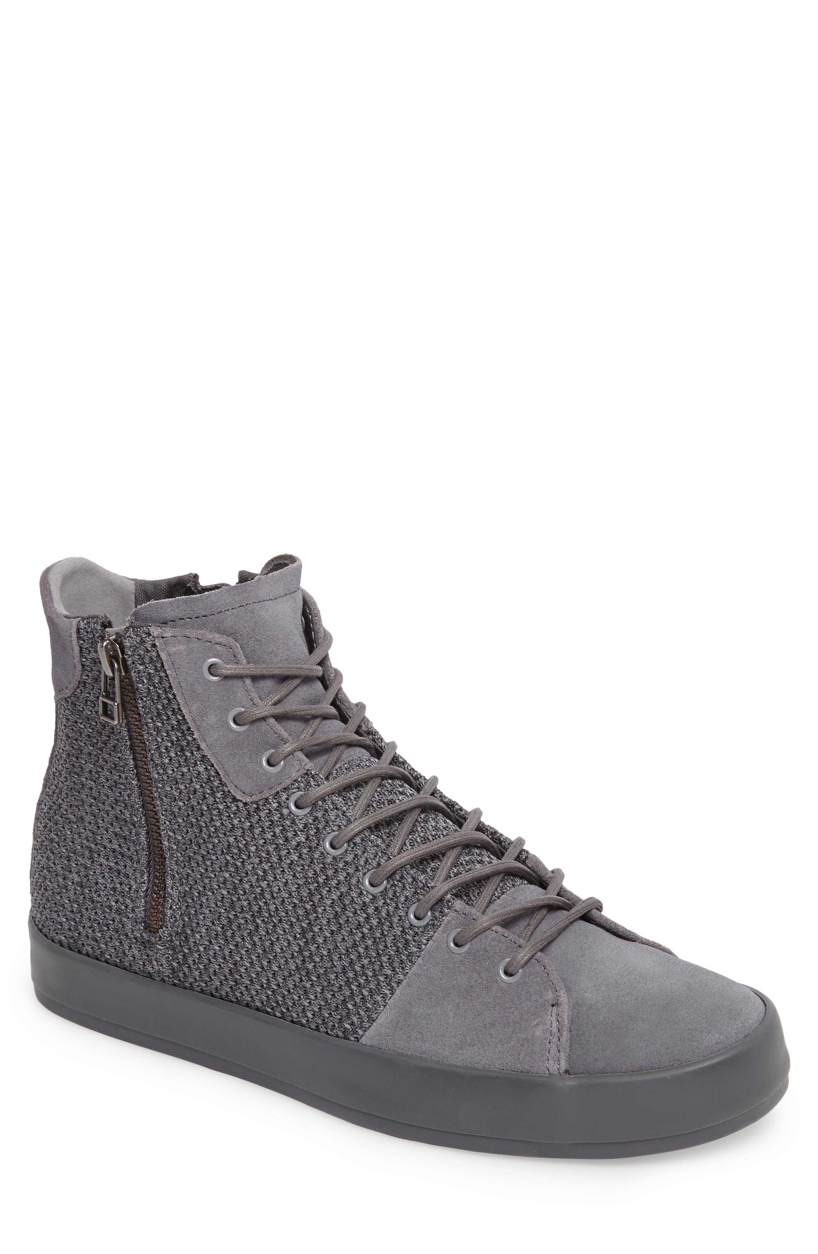 Carda Hi Sneaker,                             Main thumbnail 1, color,                             Smoke Leather