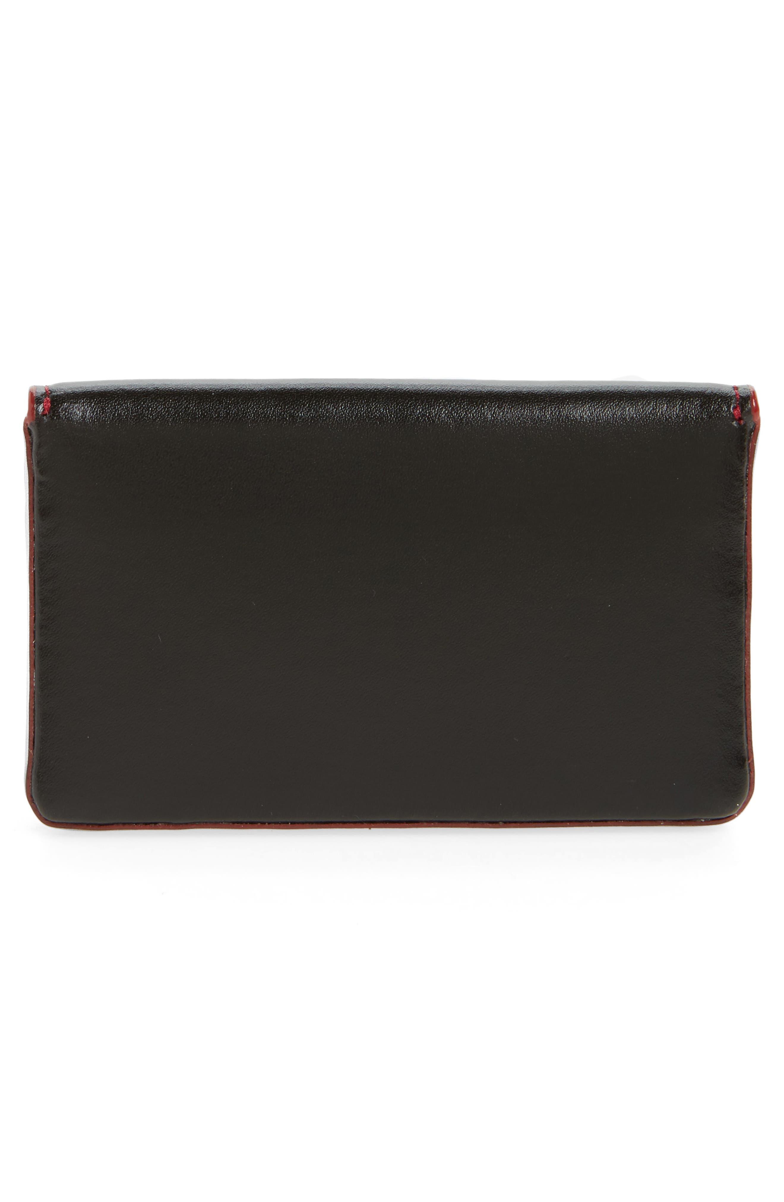 Lodis Audrey Under Lock & Key Leather Mini Card Case,                             Alternate thumbnail 2, color,                             Black