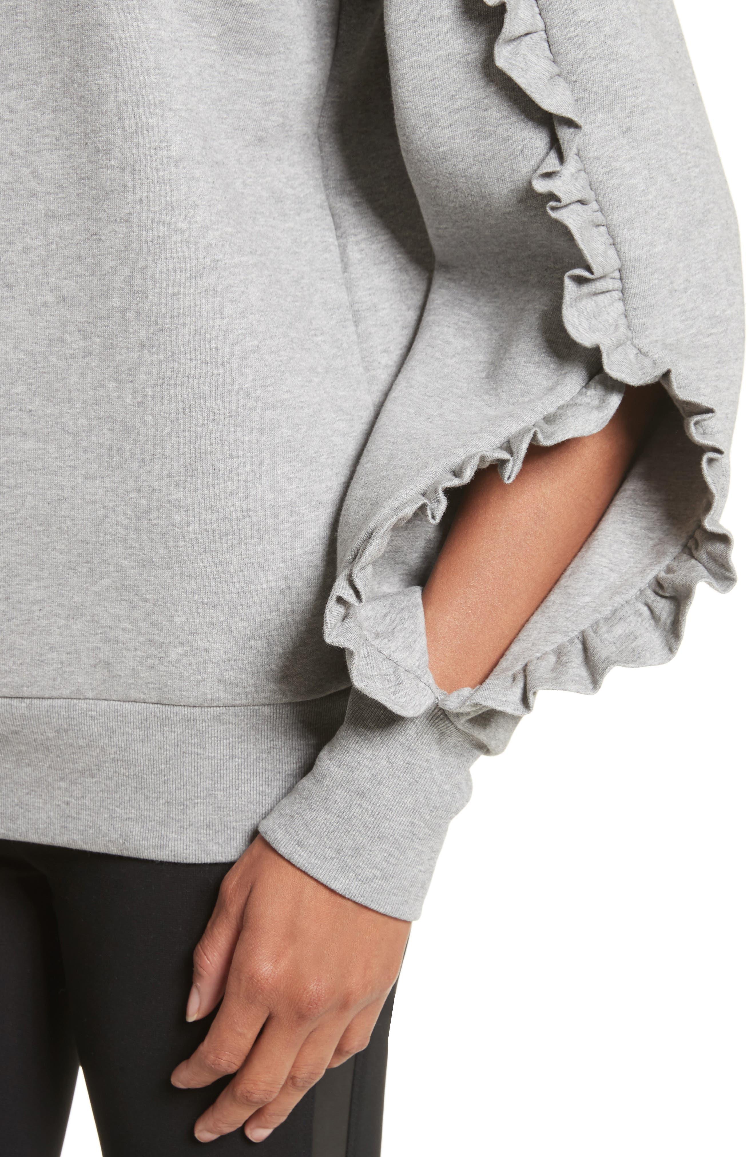 Alternate Image 4  - Burberry Kupa Ruffle Sleeve Sweatshirt