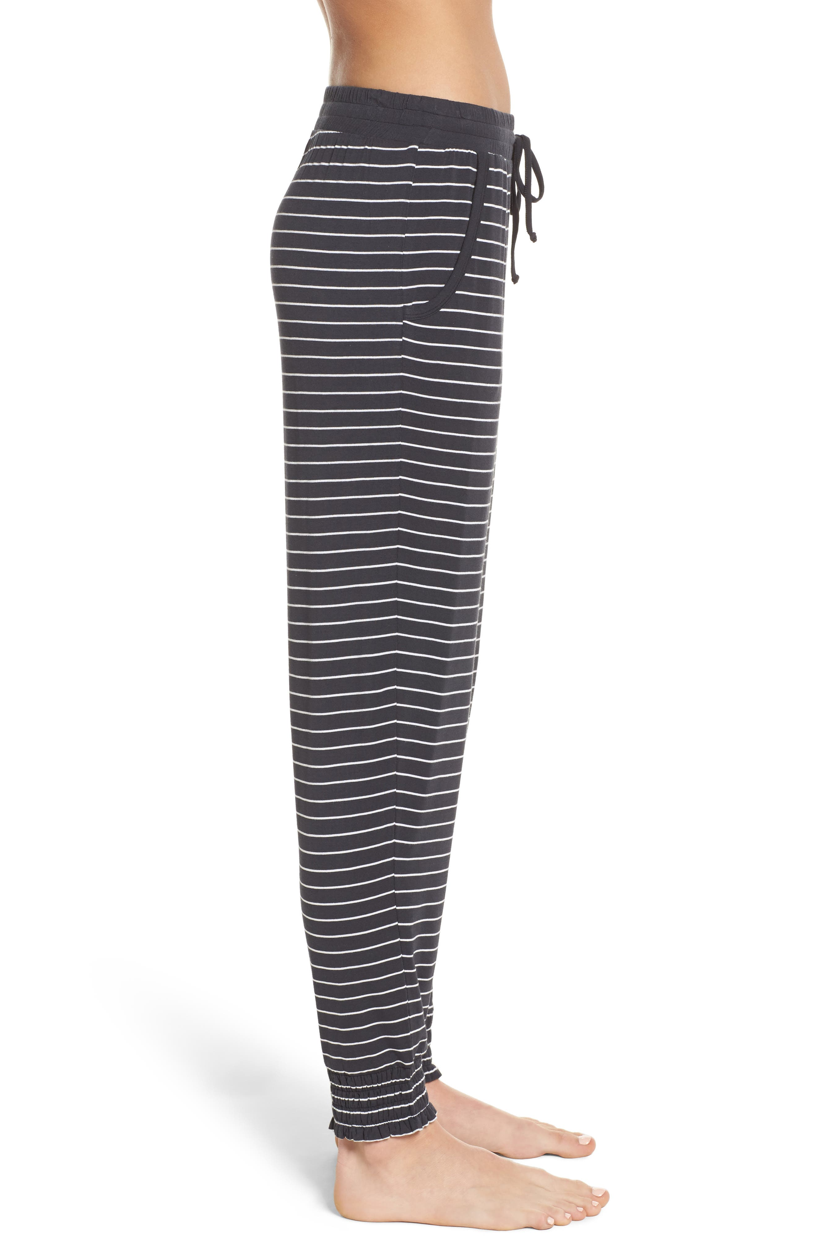 Stripe Jersey Lounge Pants,                             Alternate thumbnail 3, color,                             Smoke