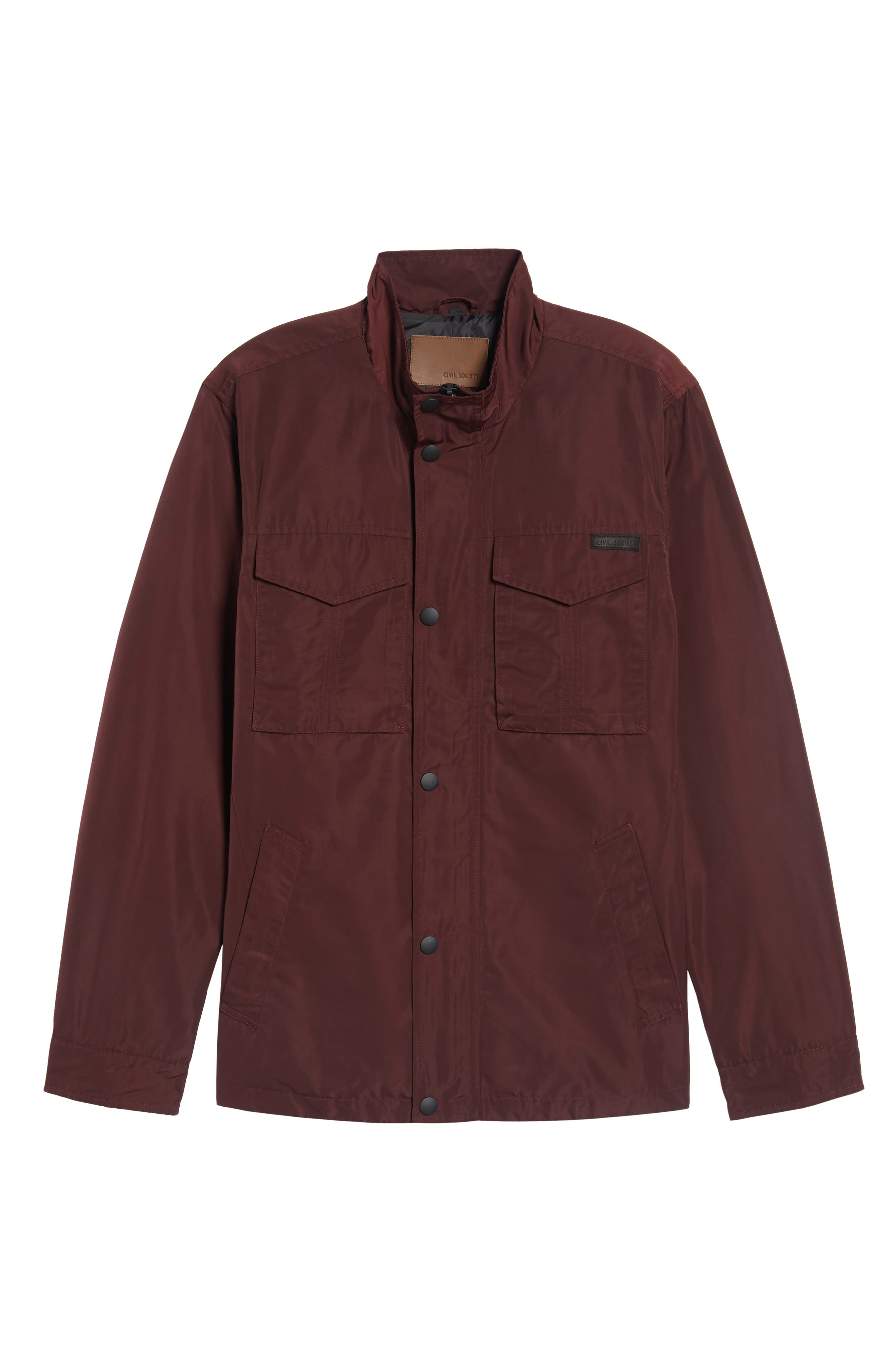 Dougie Waterproof Jacket,                             Main thumbnail 1, color,                             Mulberry