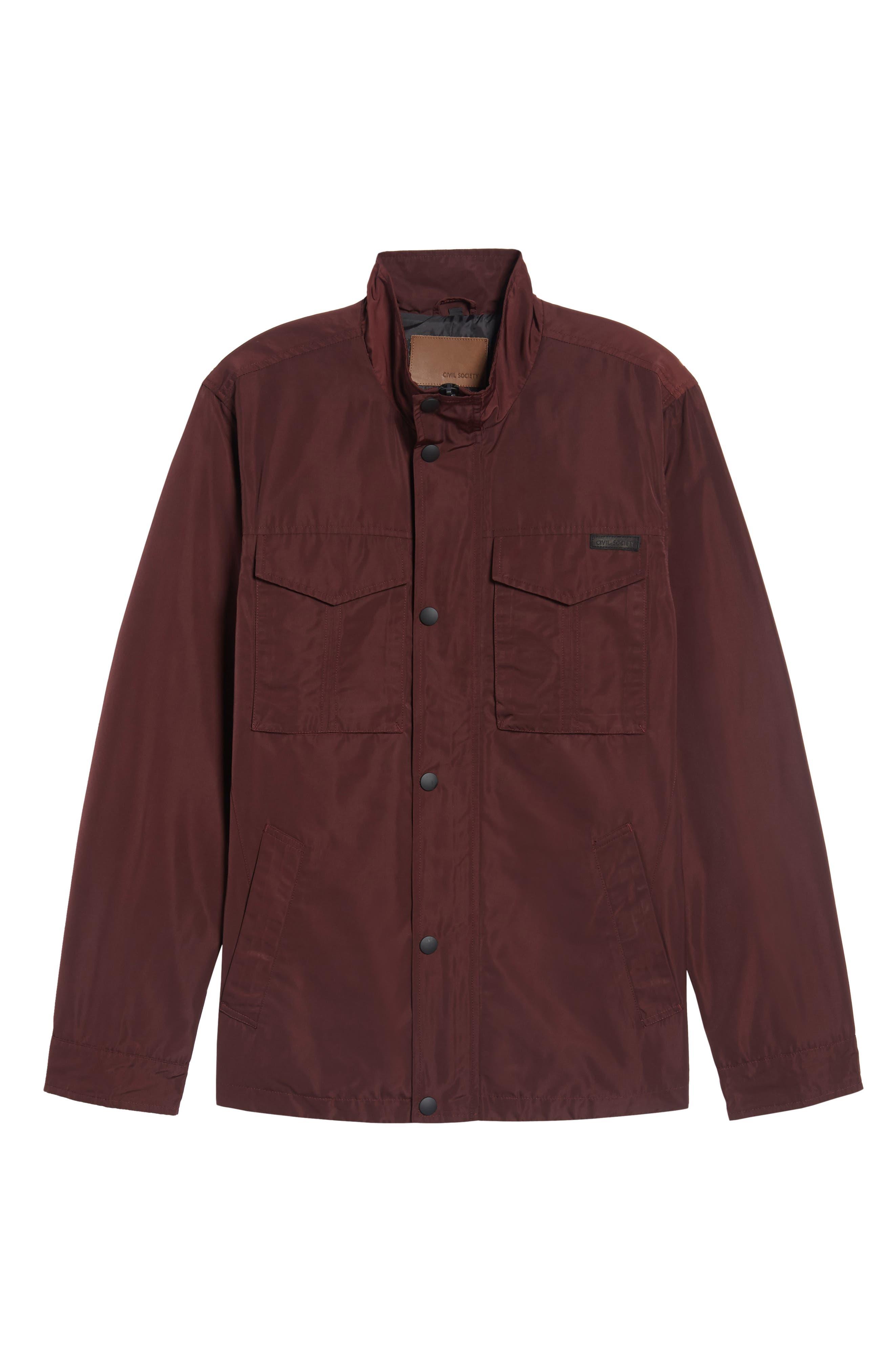 Dougie Waterproof Jacket,                         Main,                         color, Mulberry