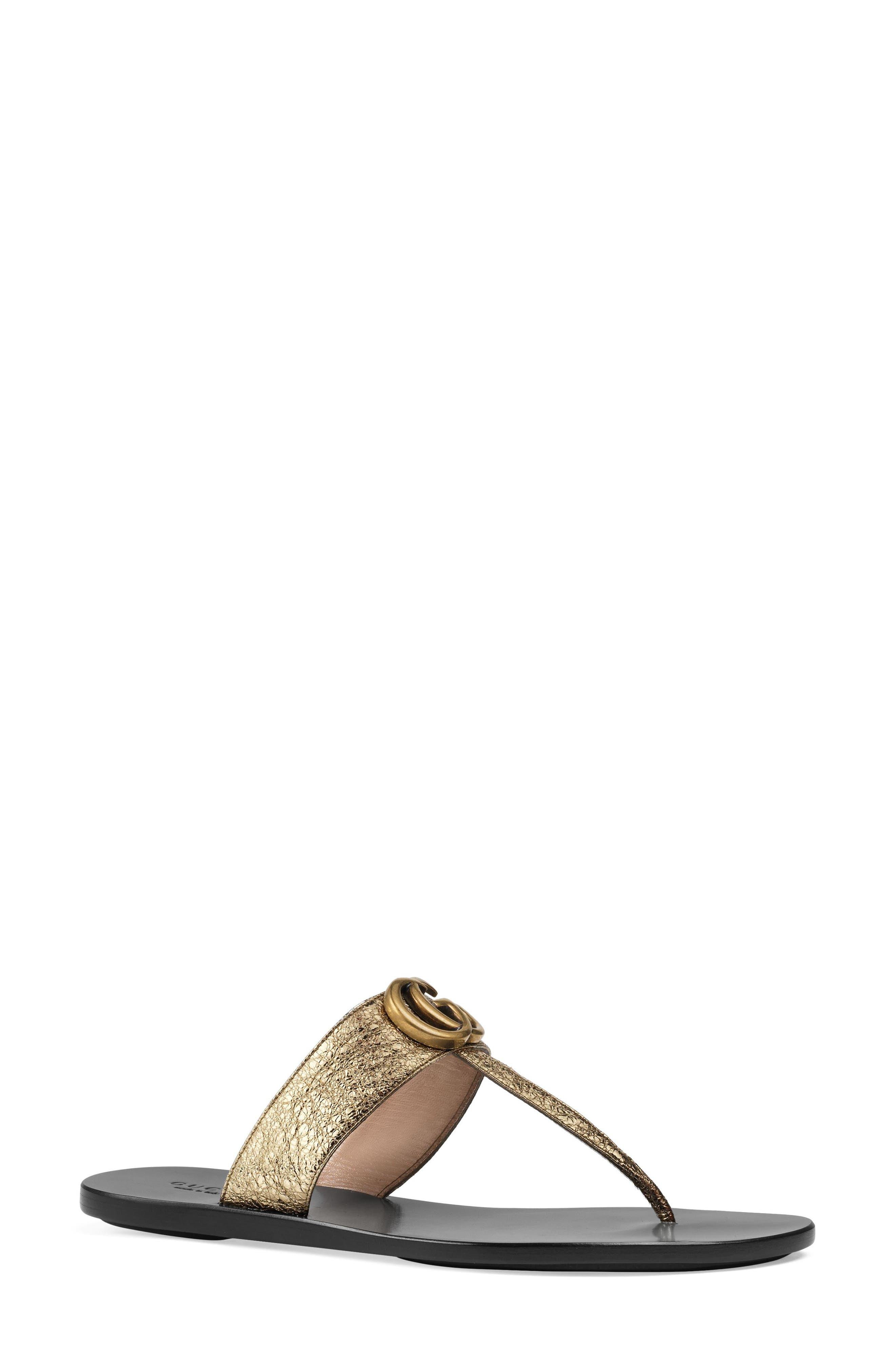 Alternate Image 1 Selected - Gucci Marmont T-Strap Sandal (Women)