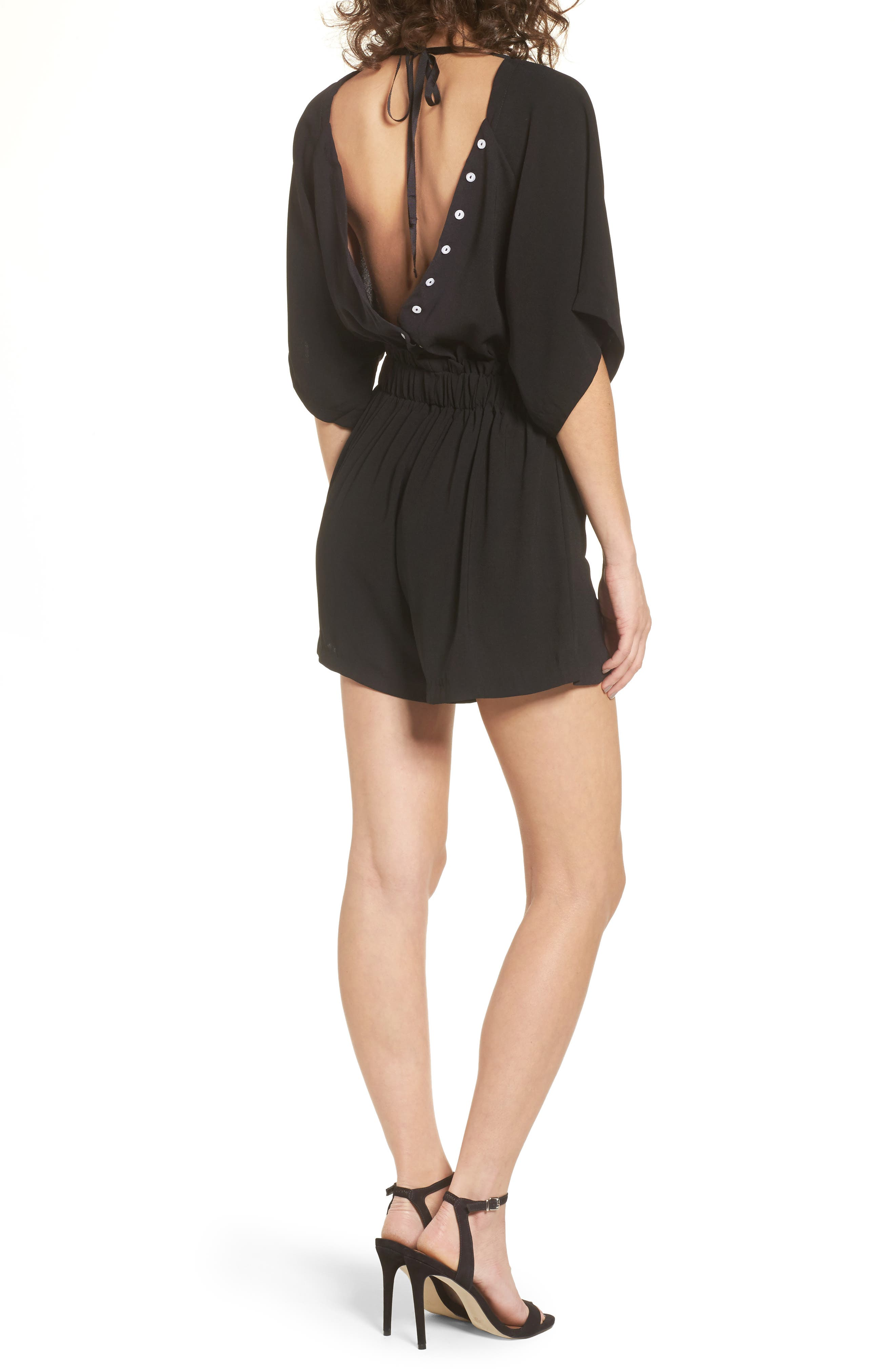Alternate Image 3  - LOST INK Button Back Romper