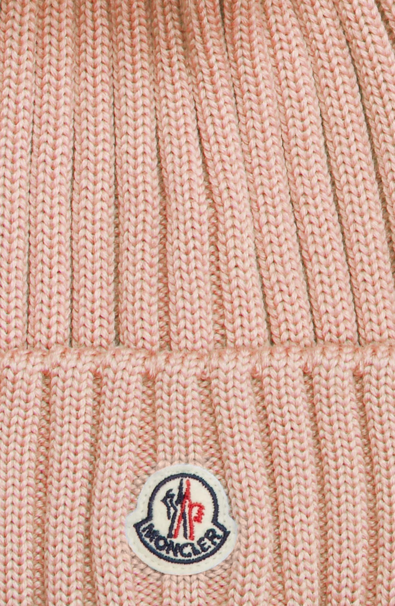 Alternate Image 2  - Moncler Genuine Fox Fur Pom Wool Beanie