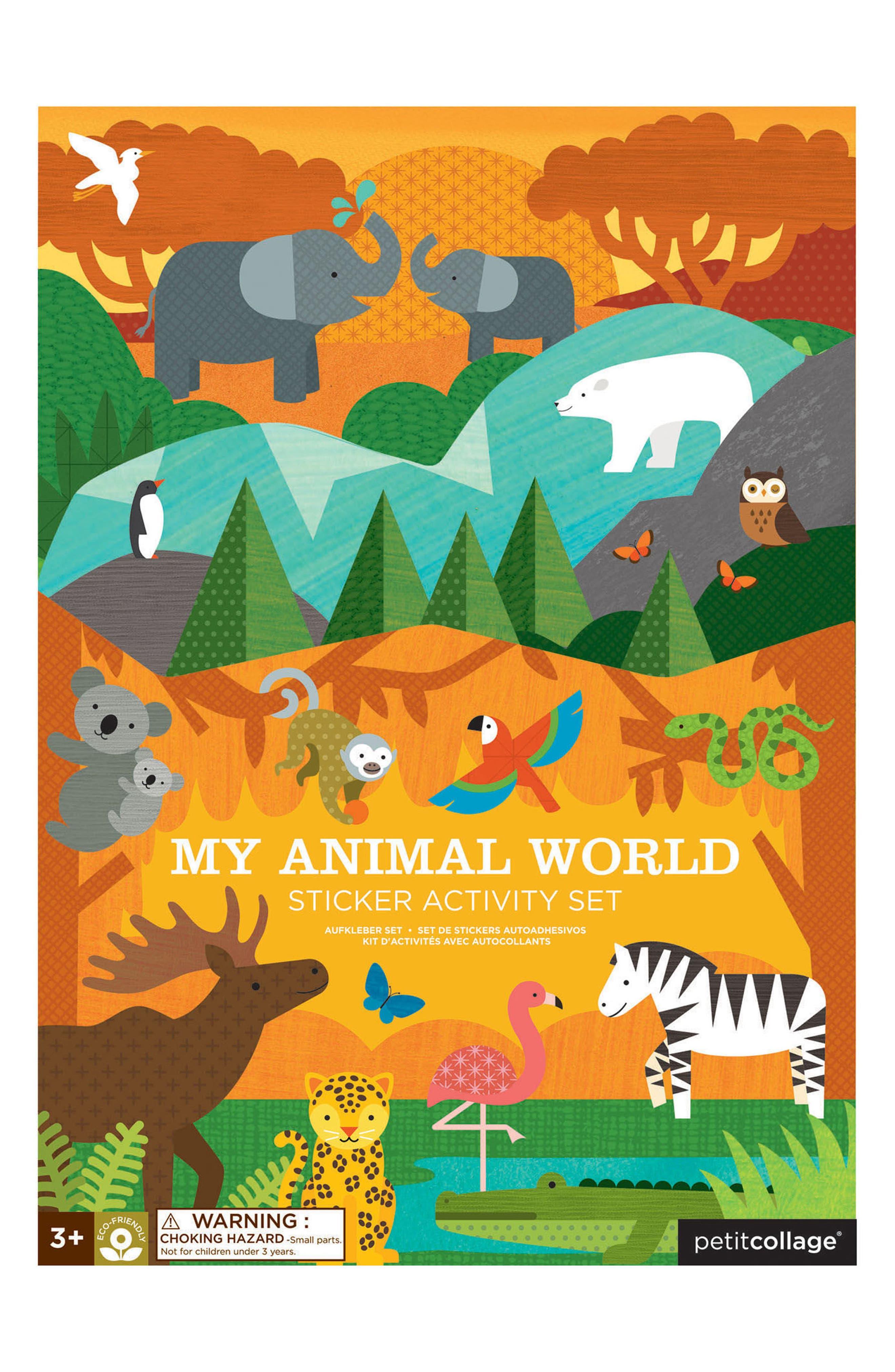 My Animal World Sticker Activity Set,                             Main thumbnail 1, color,                             Multi