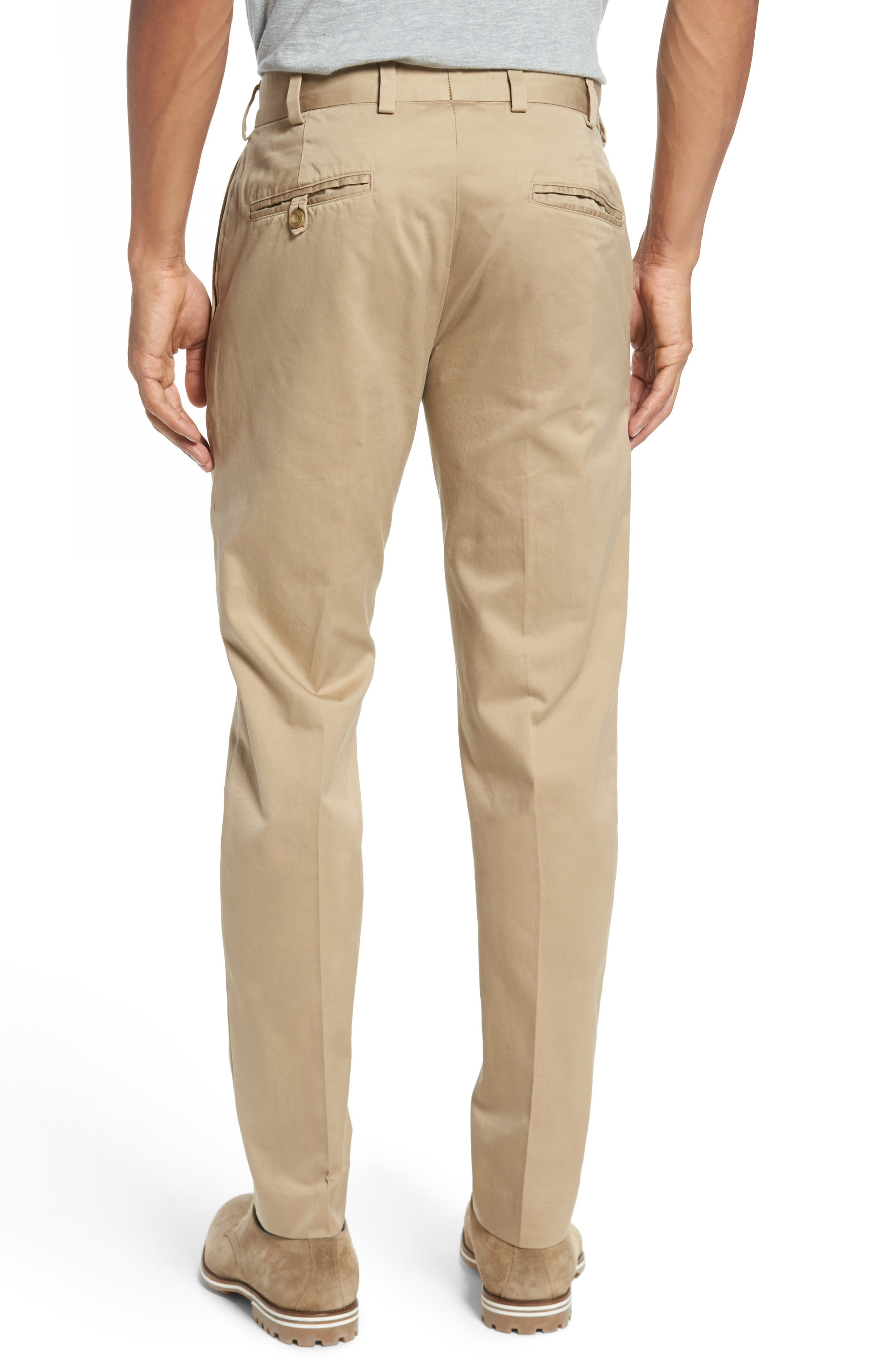 Slim Fit Chamois Cloth Pants,                             Alternate thumbnail 2, color,                             Camel