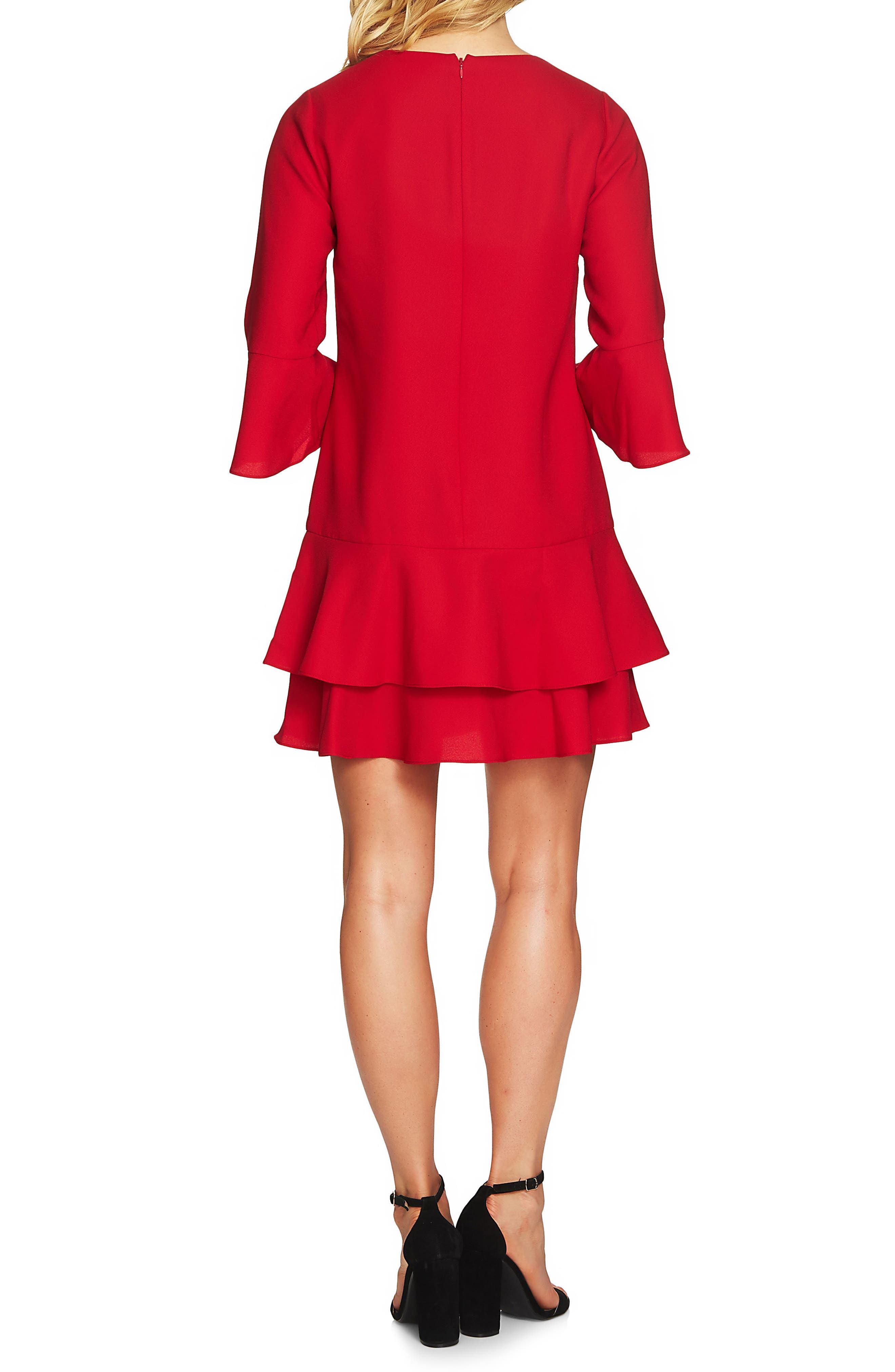 Alternate Image 2  - CeCe Katelyn Ruffle Shift Dress
